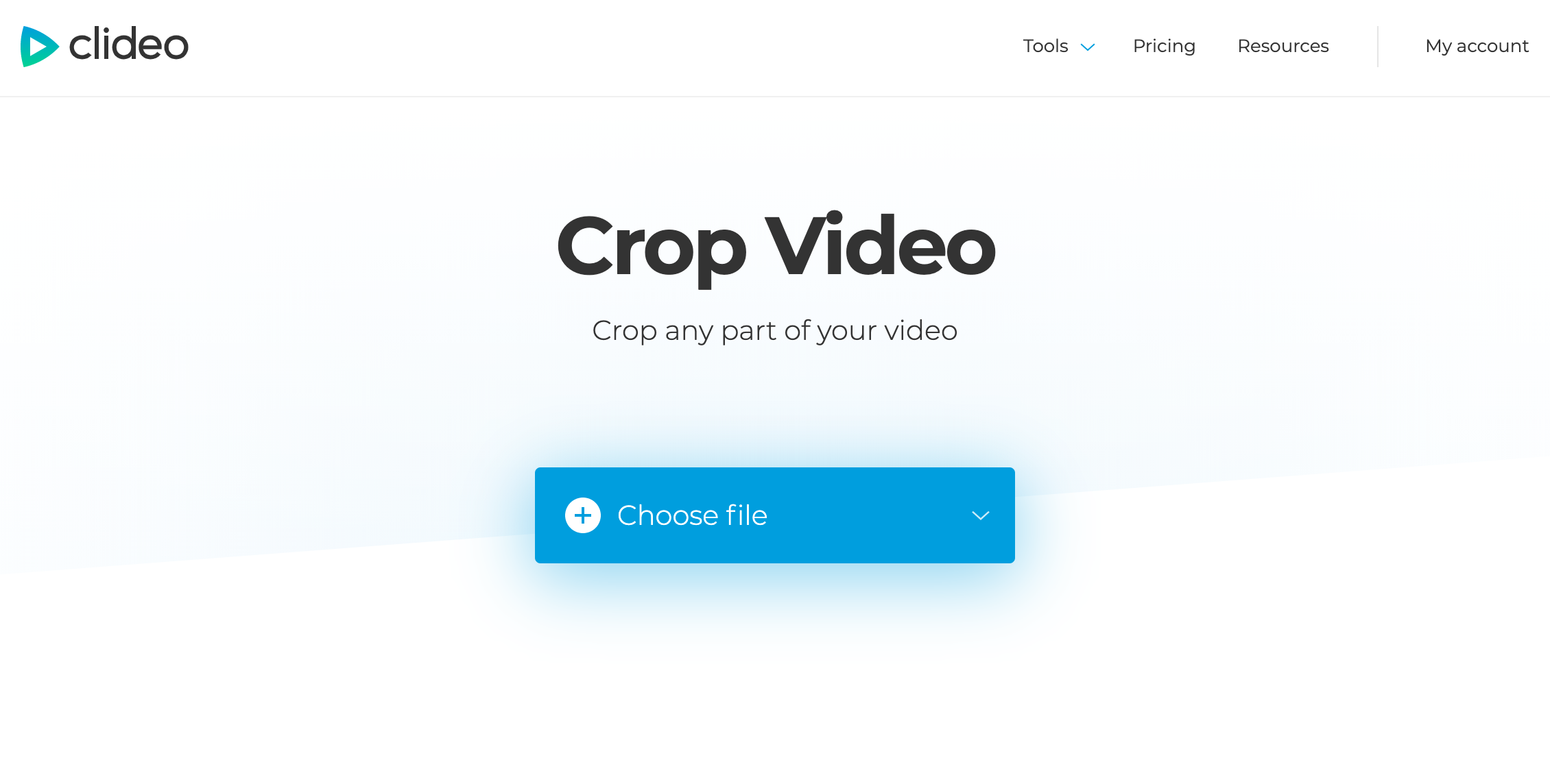 Open the Clideo's Video Cropping tool