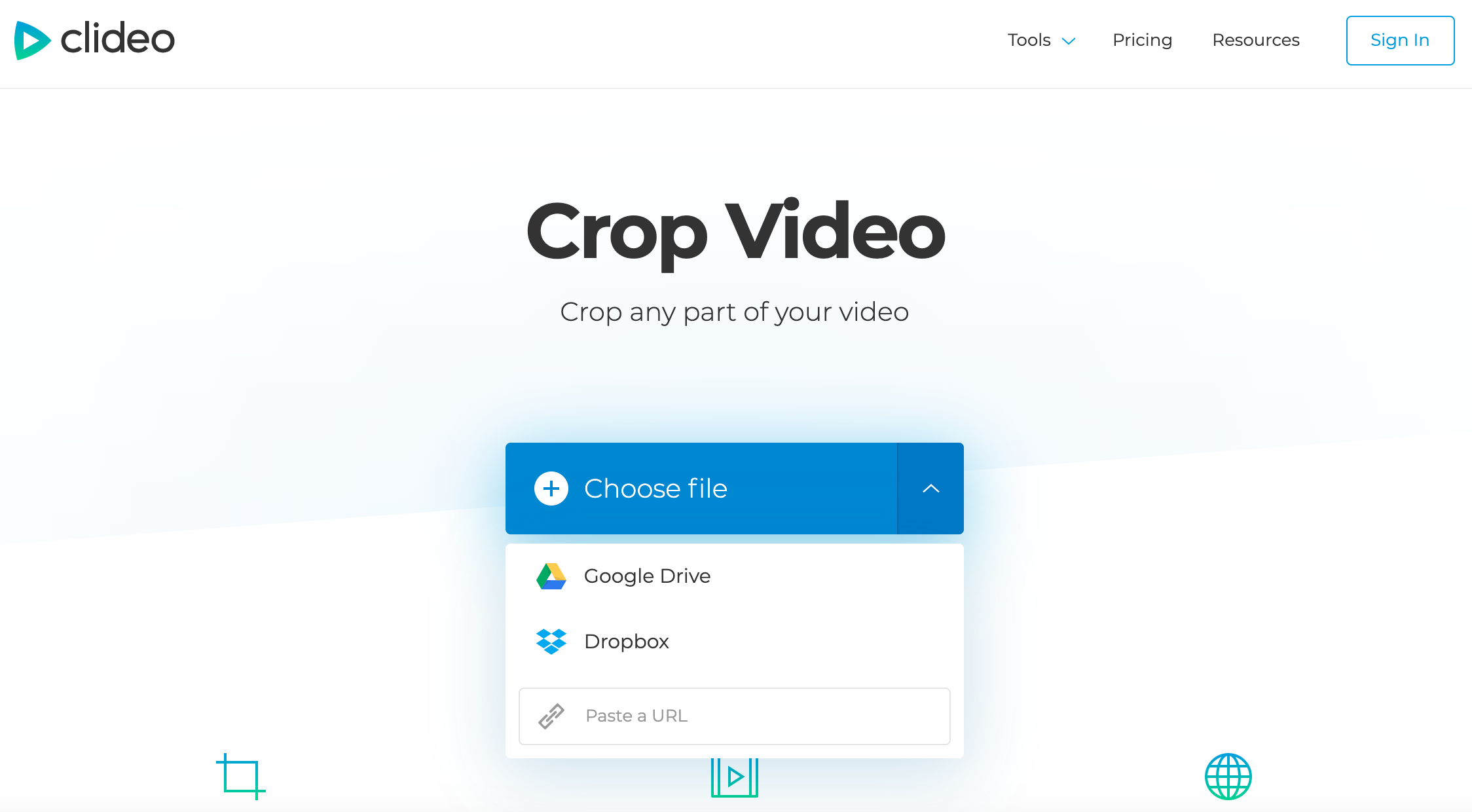 Upload a video to crop it for Instagram