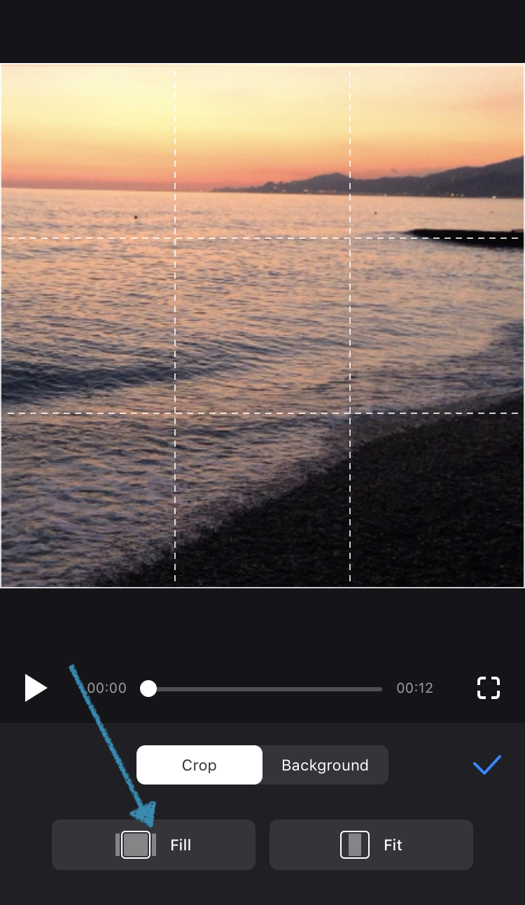 Crop your video in Clideo's resize app