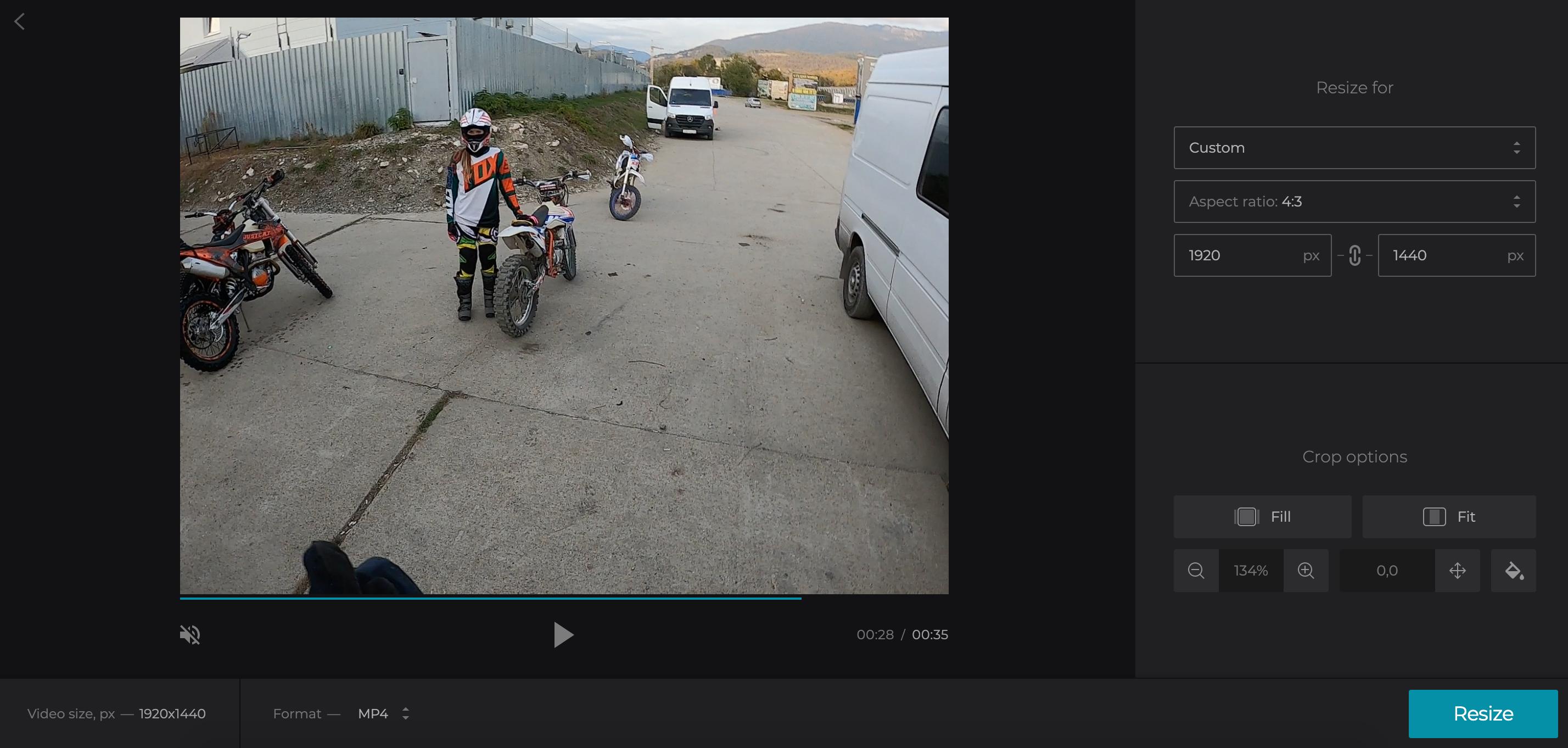 Crop video to delete black bars