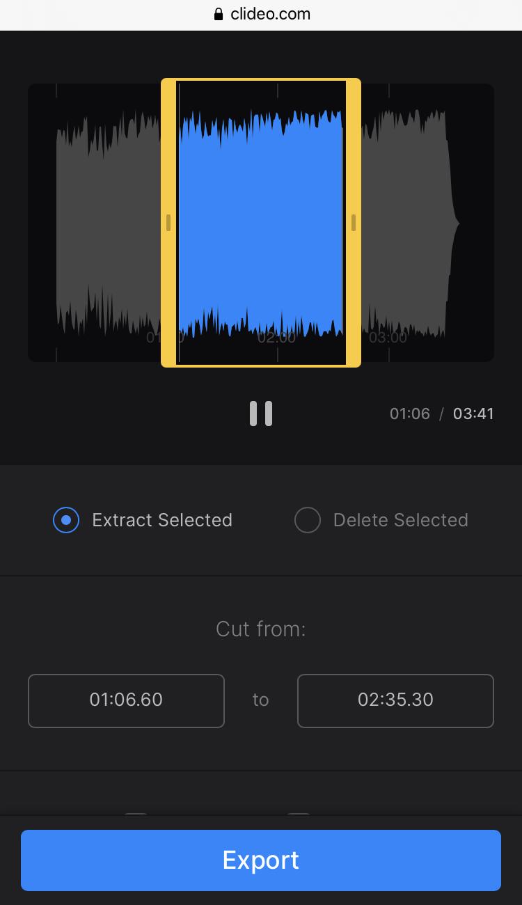 Trim audio to make custom ringtone on Android