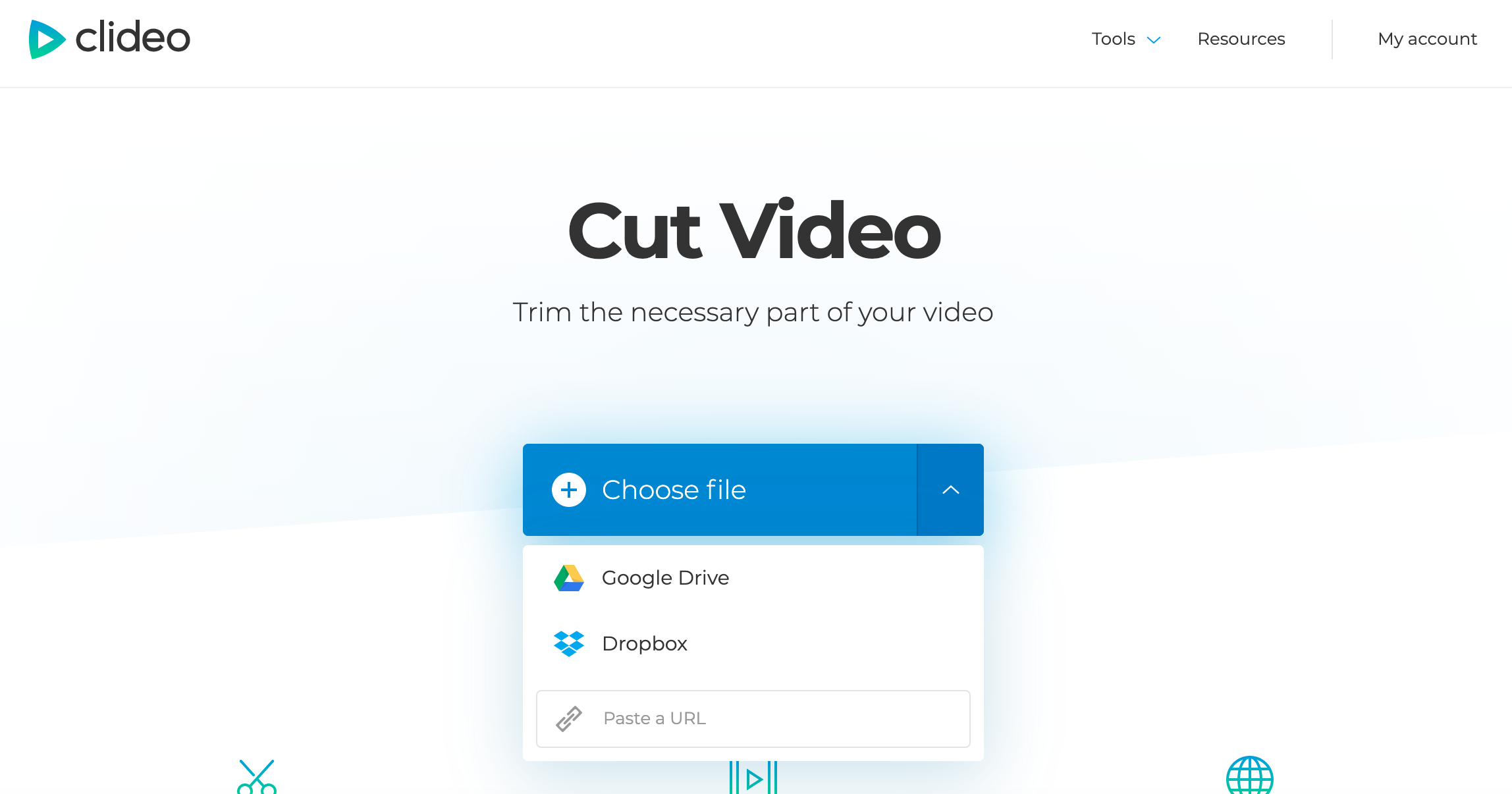 Add a video you want to cut from your device