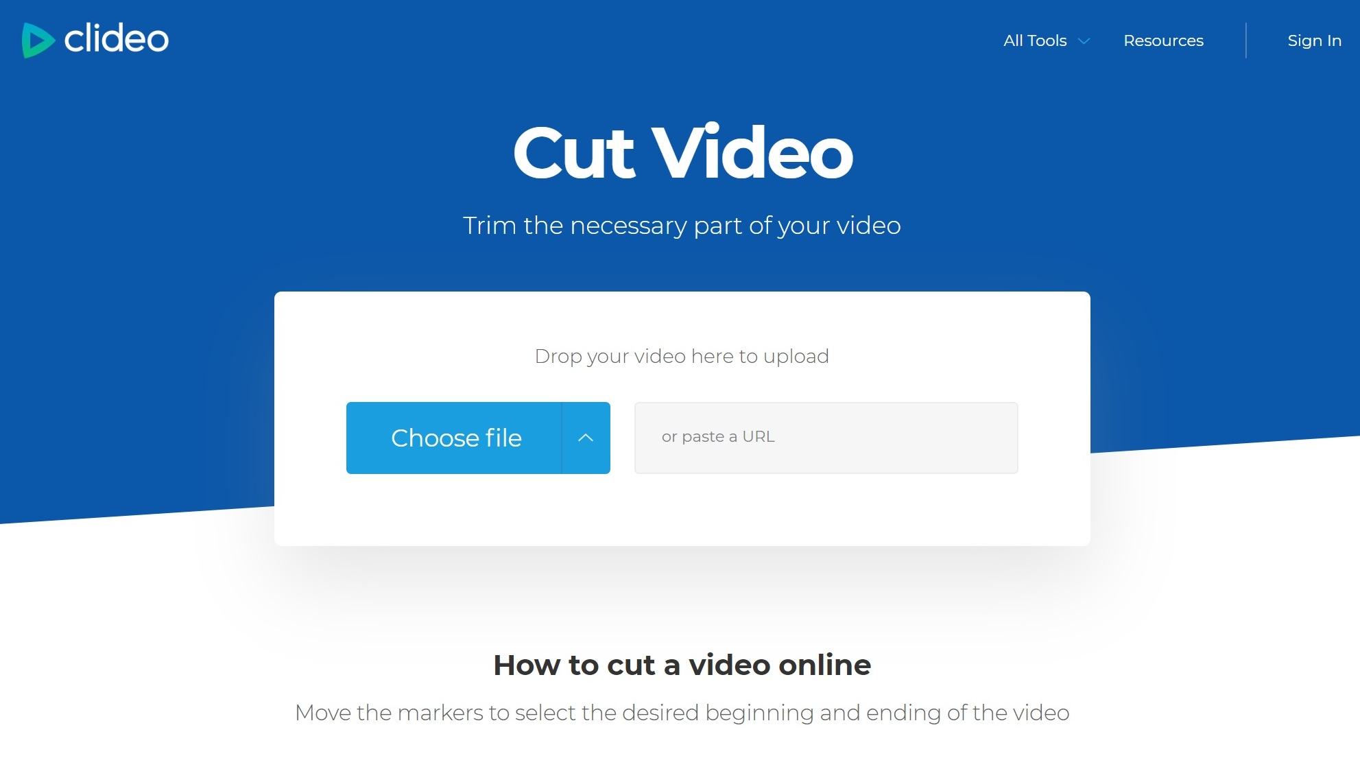 Add a video to cut from computer or phone