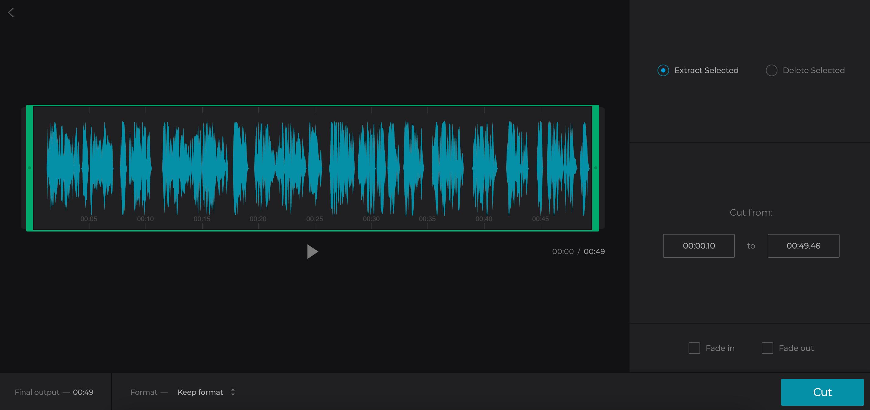 Cut Soundcloud to convert to WAV