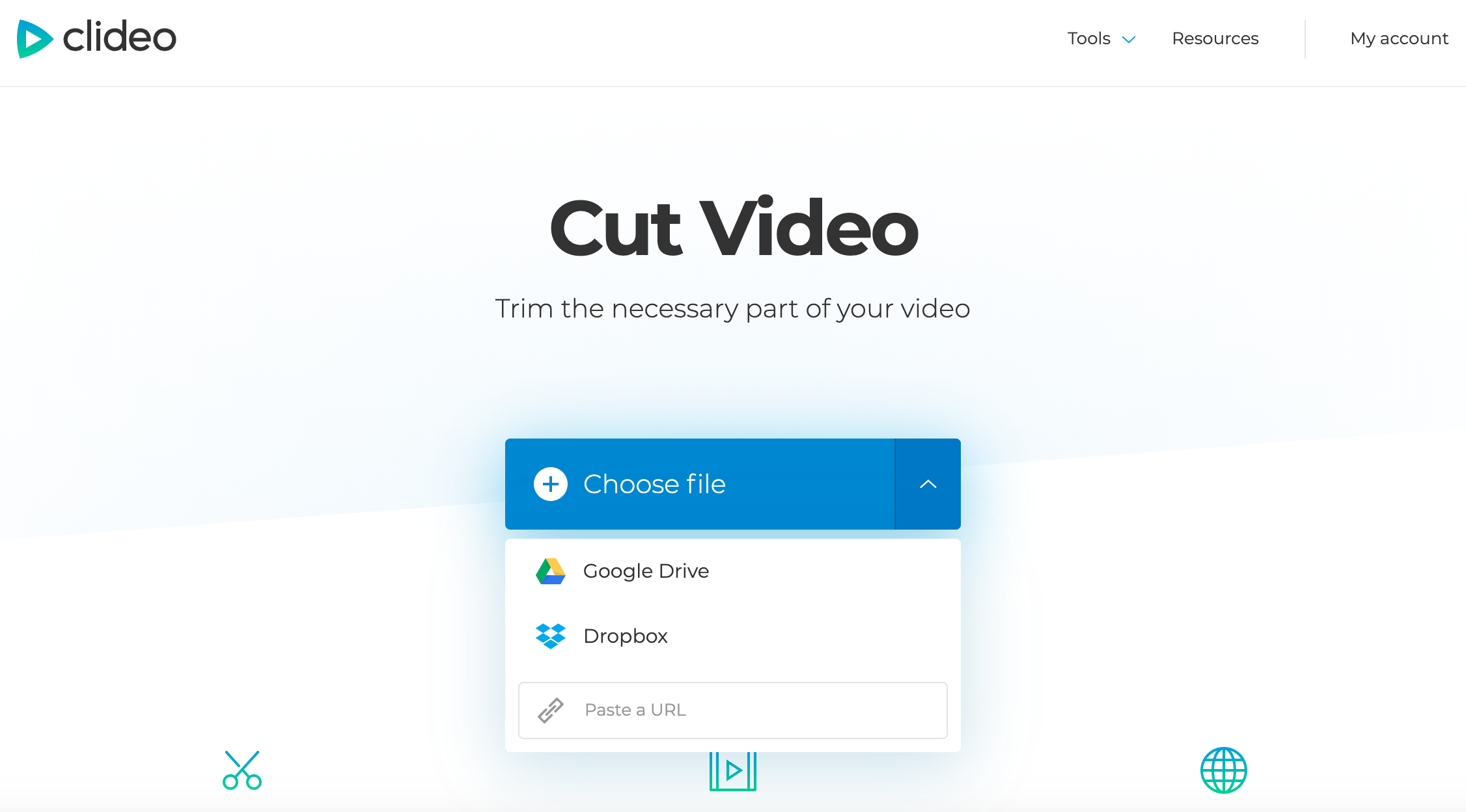 Upload a video you want to cut on iPhone
