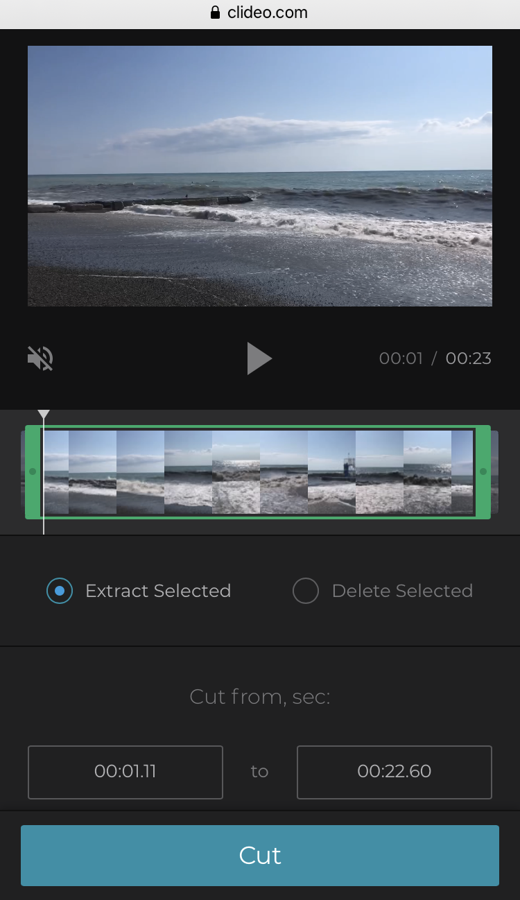 Cut Vimeo video before downloading on iPhone