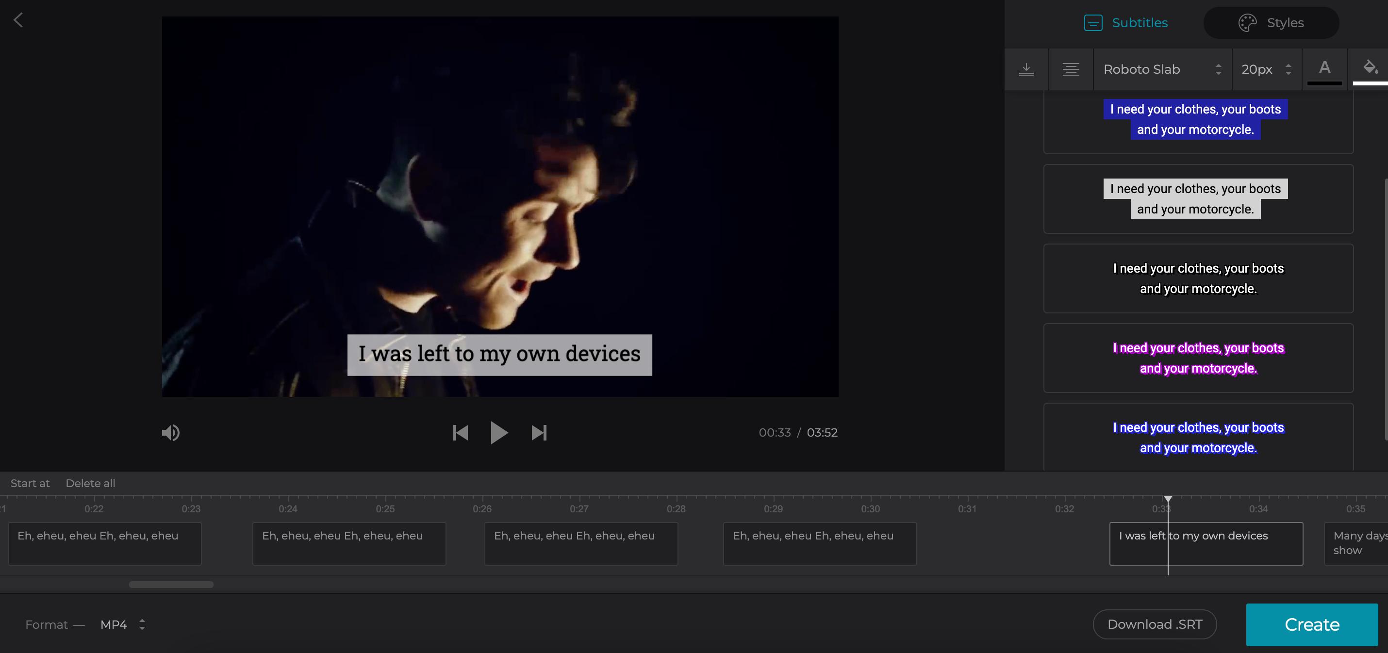 Adjust subtitles added to MKV