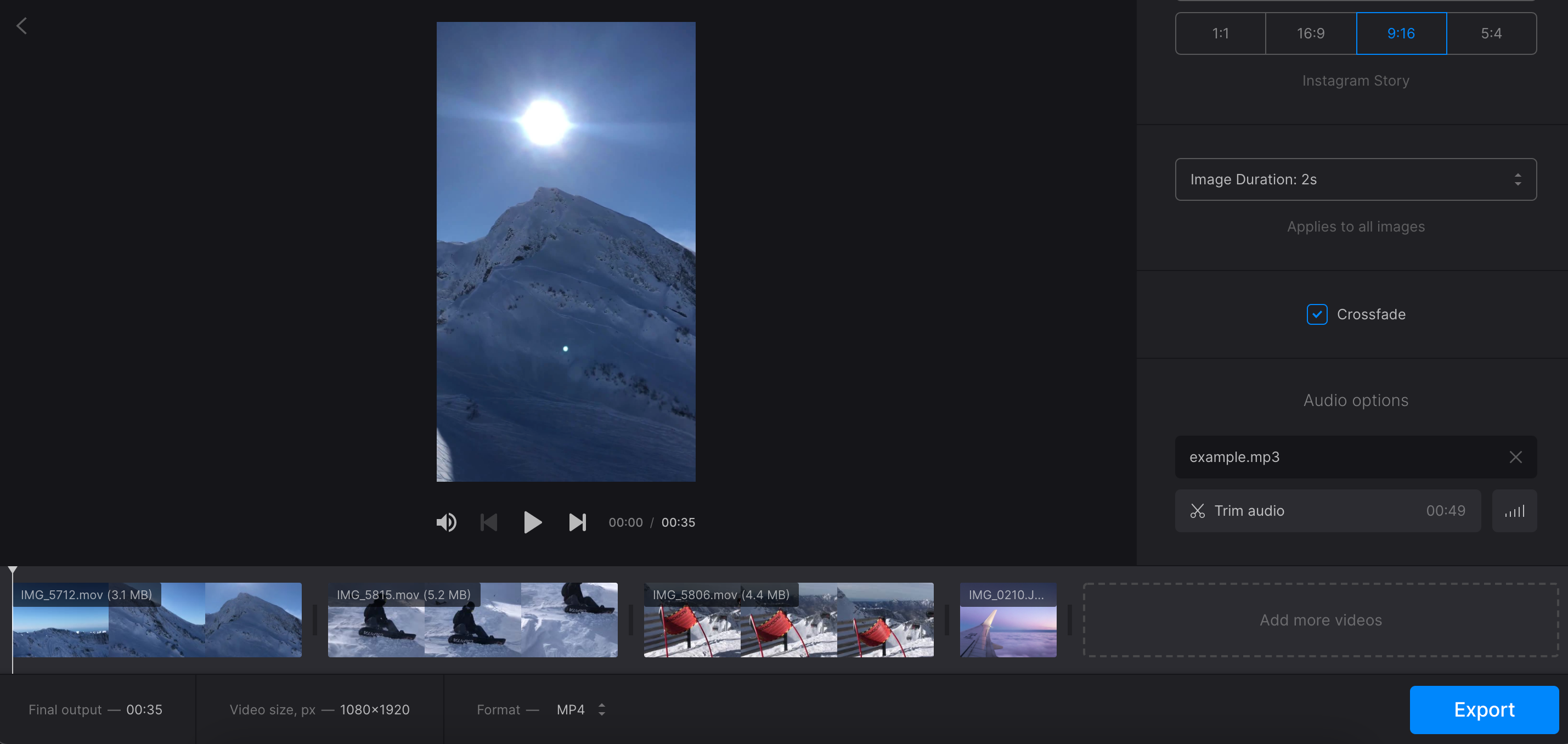 Adjust video in iMovie equivalent for Windows