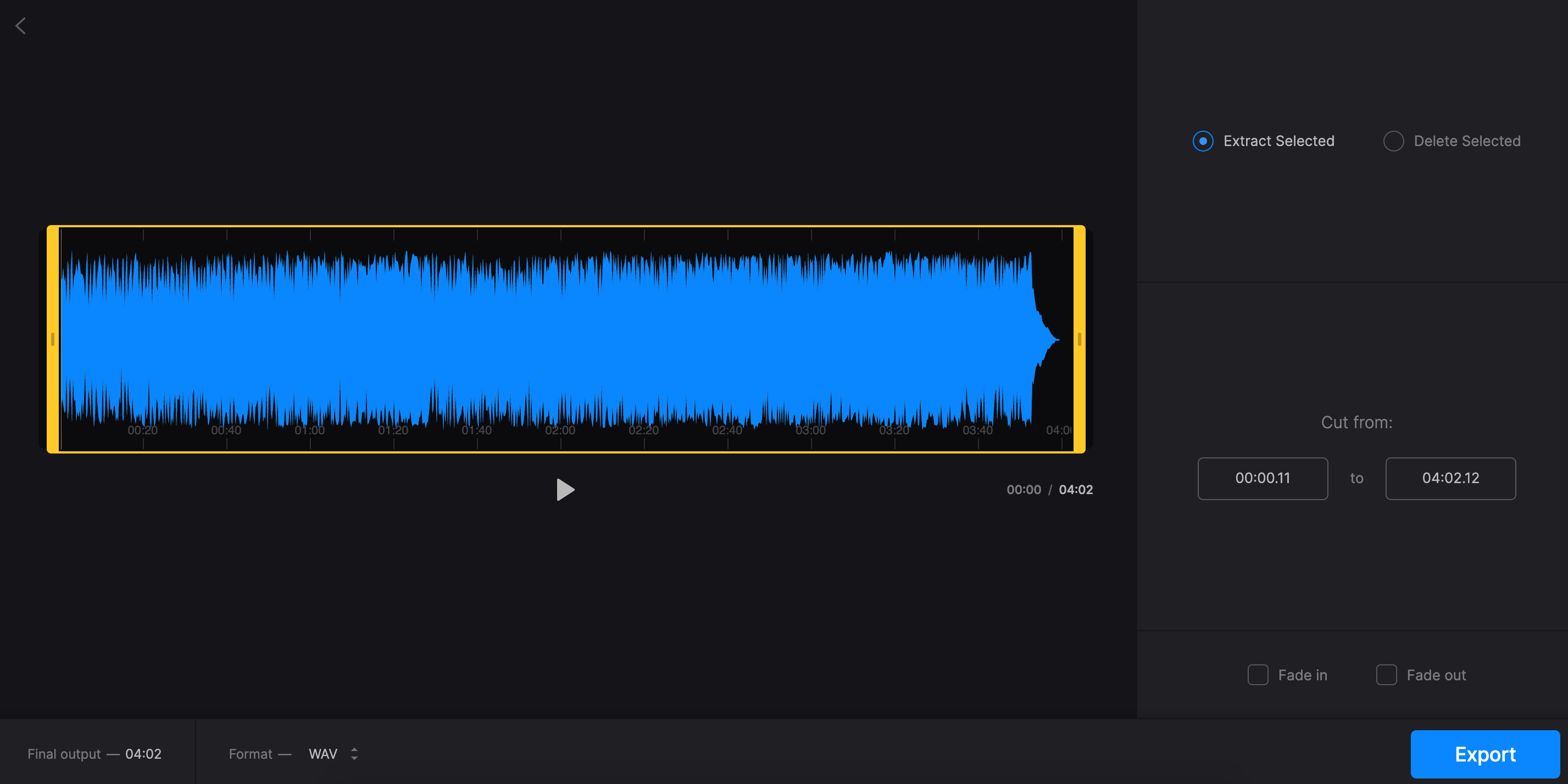 Extract audio from video on Mac with Clideo