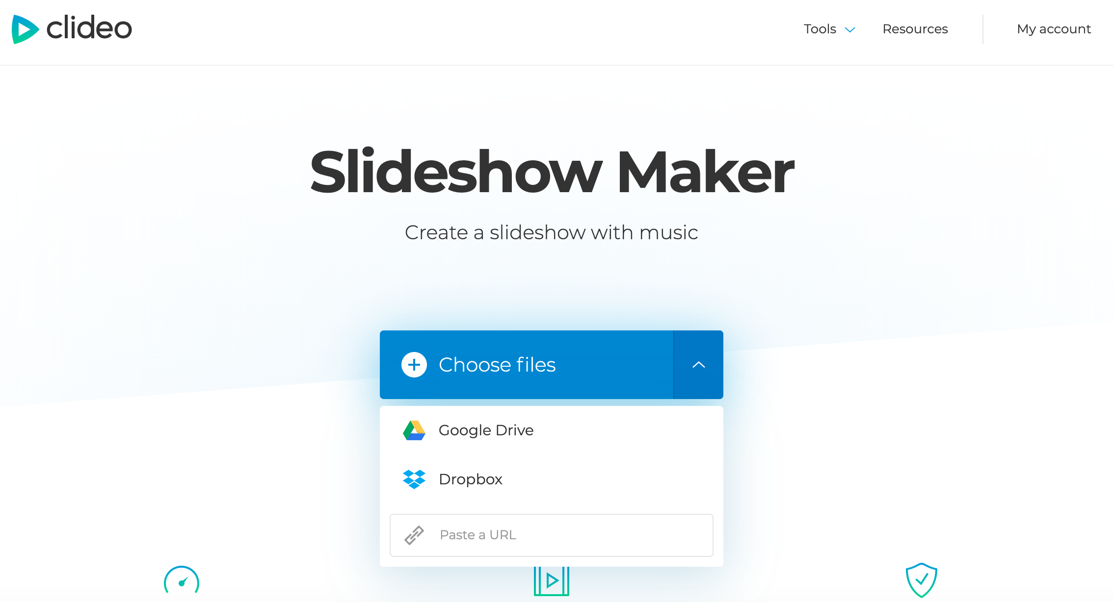 Select the files you need to make a Facebook slideshow