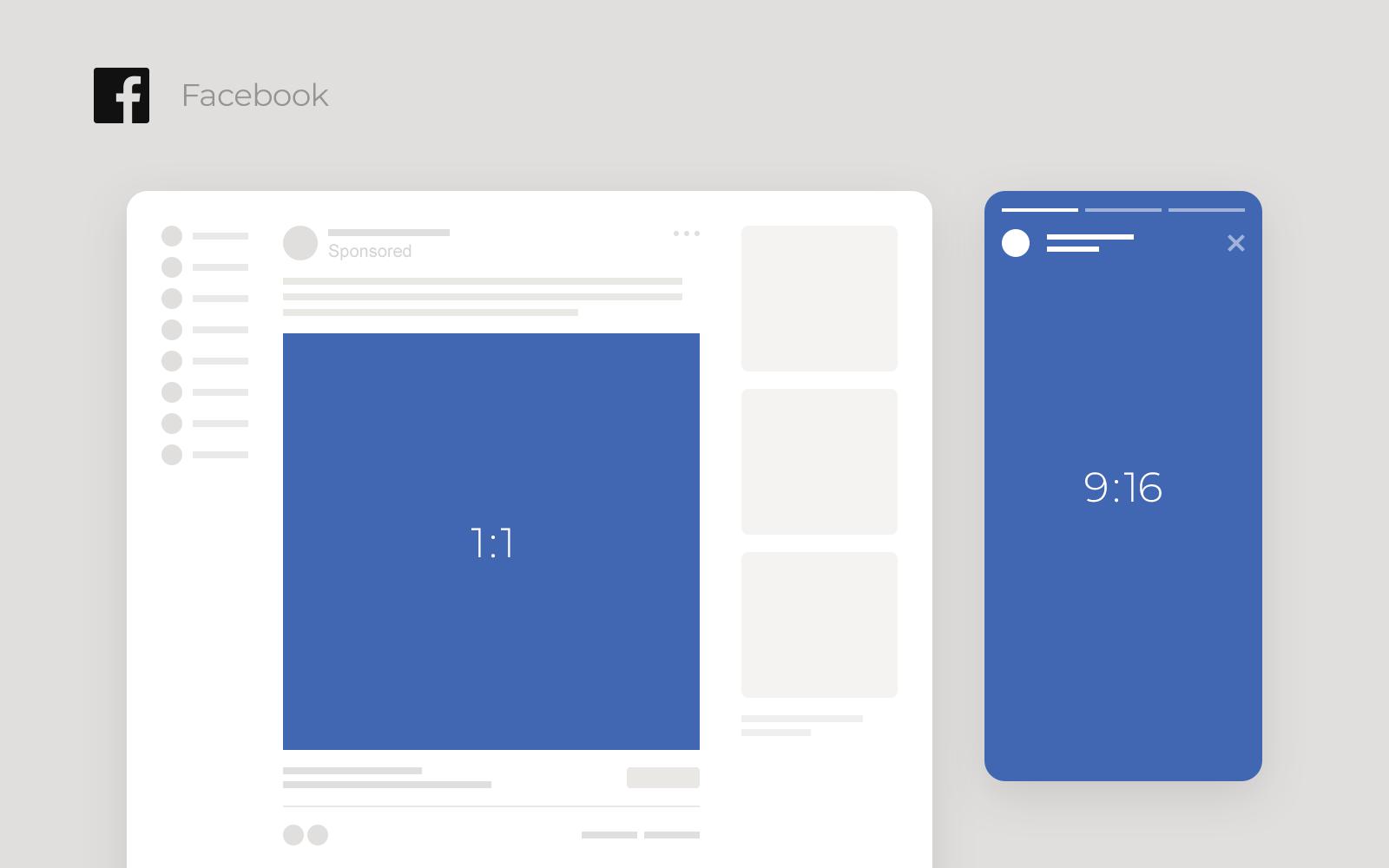 Example of Facebook video aspect ratio
