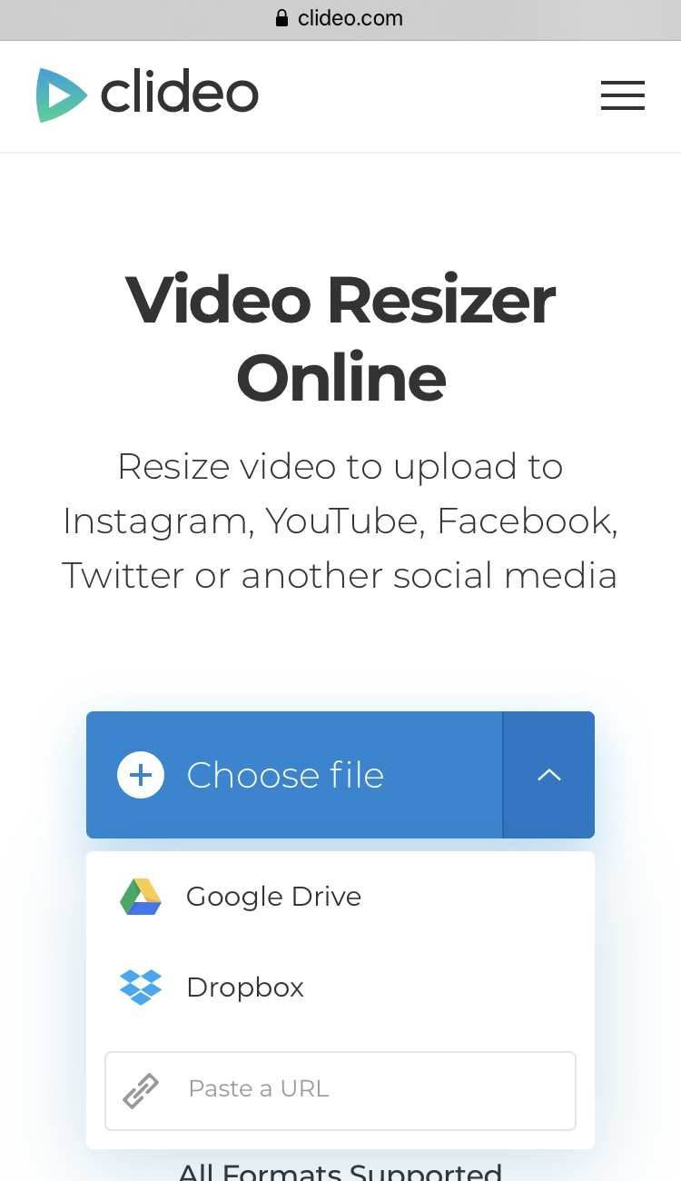 Upload a video you want to fit on Instagram