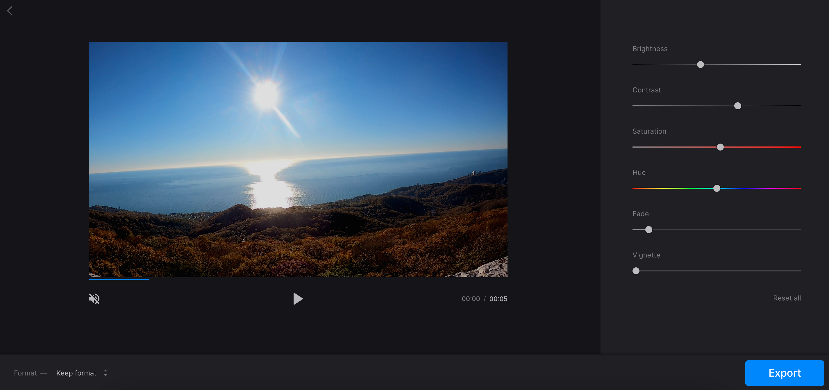 Fix overexposed video with Clideo