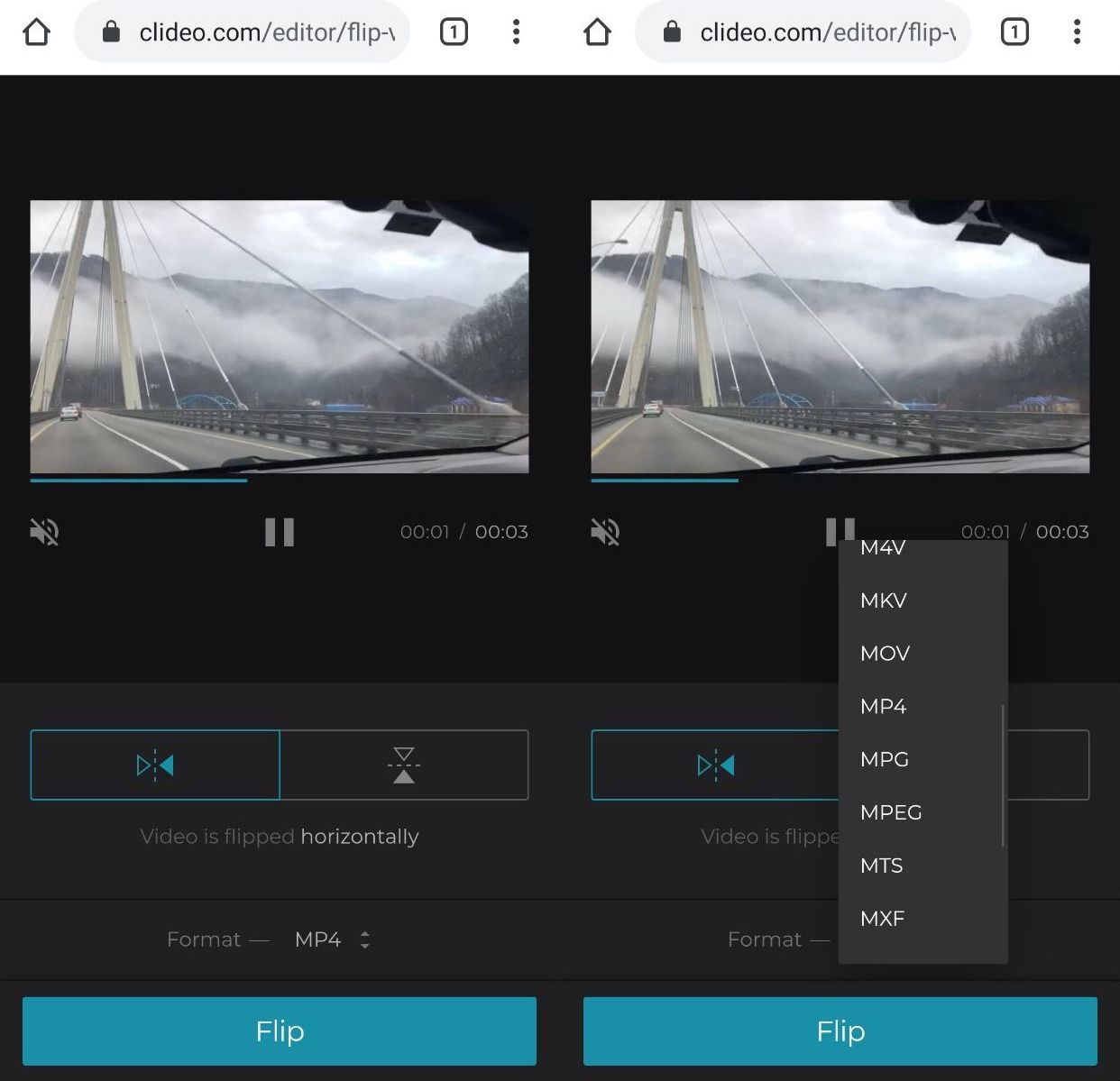 Flip or mirror the Android video with one click