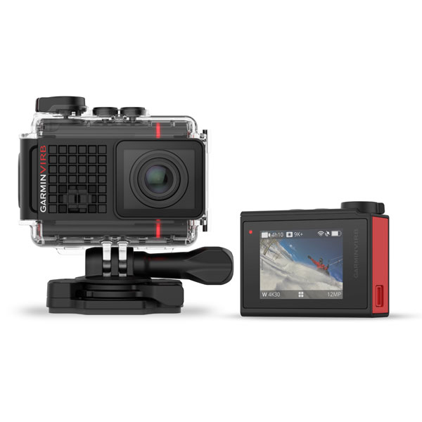Action camera Garmin VIRB Ultra 30 from back and front