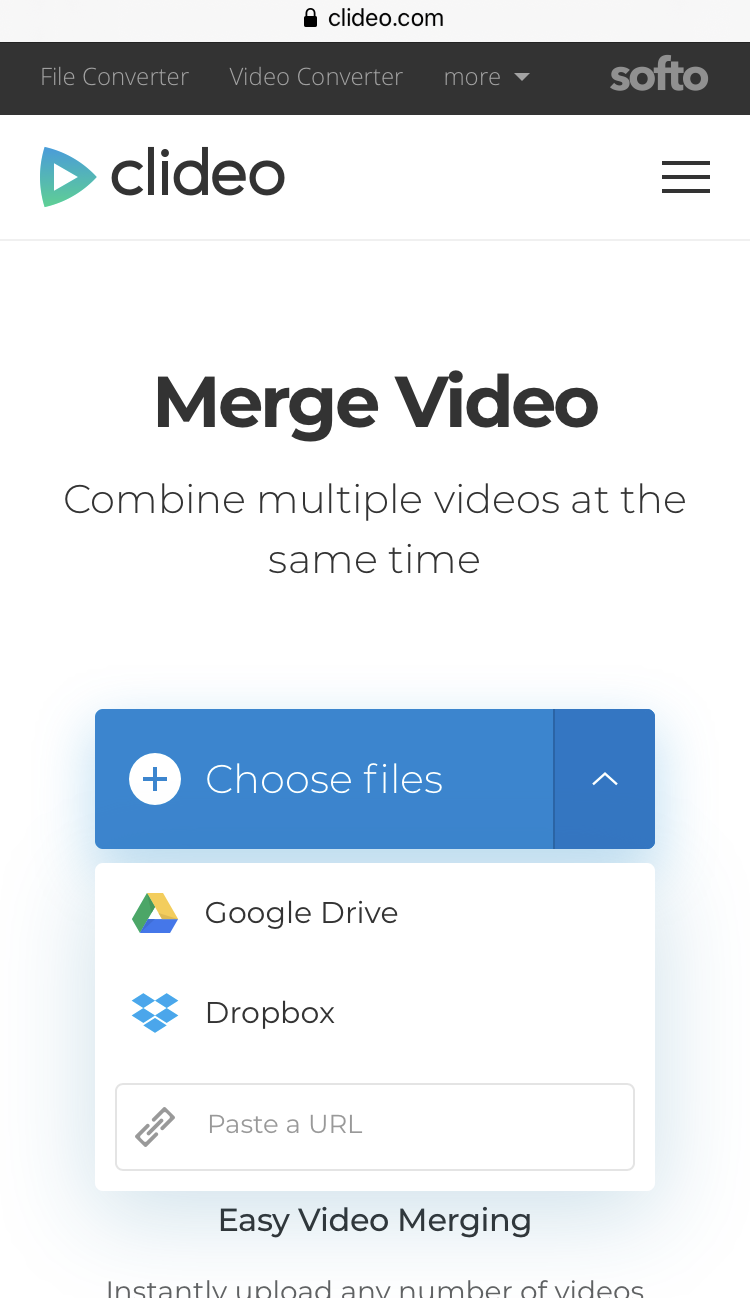 Add multiple videos to merge on iPhone