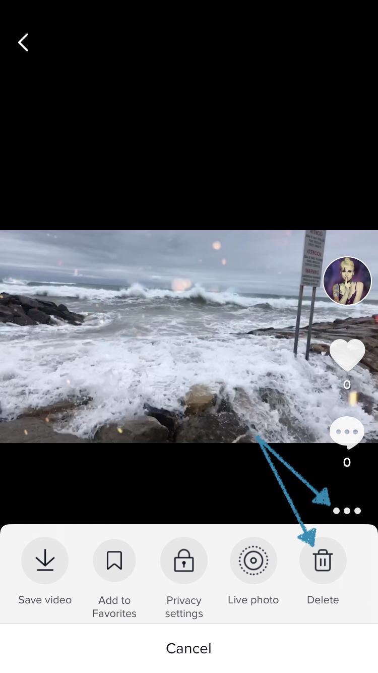 Delete a TikTok video from your profile