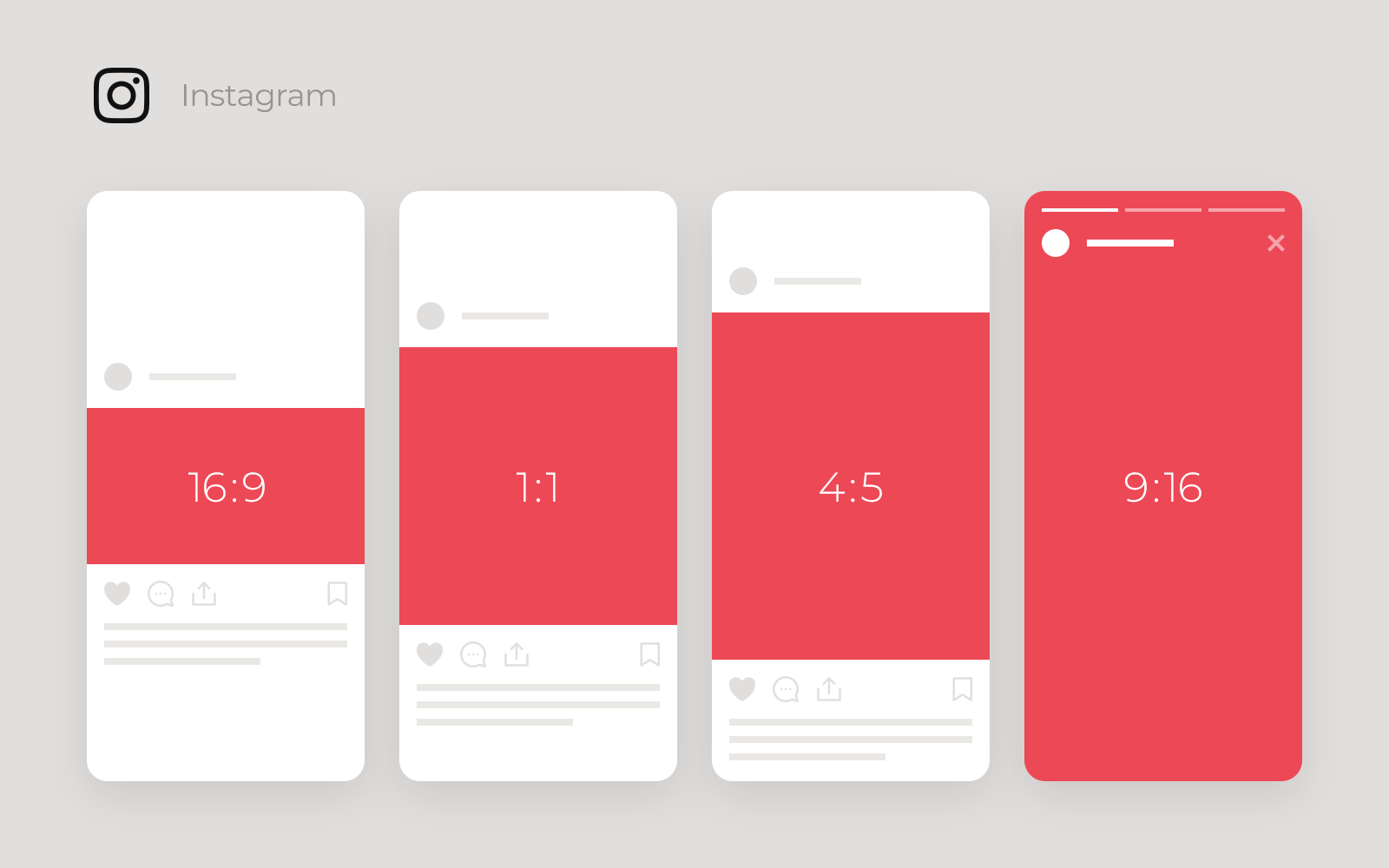 Instagram Landscape, Vertical, Stories, Square videos and their aspect ratio