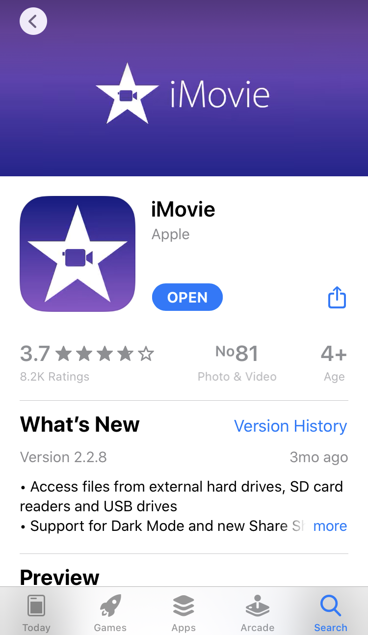 Install iMovie to iPhone if you don't have it