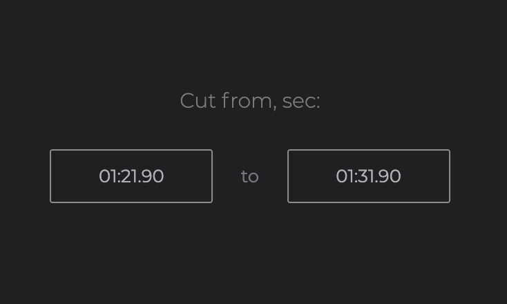 Set an exact time to split your video