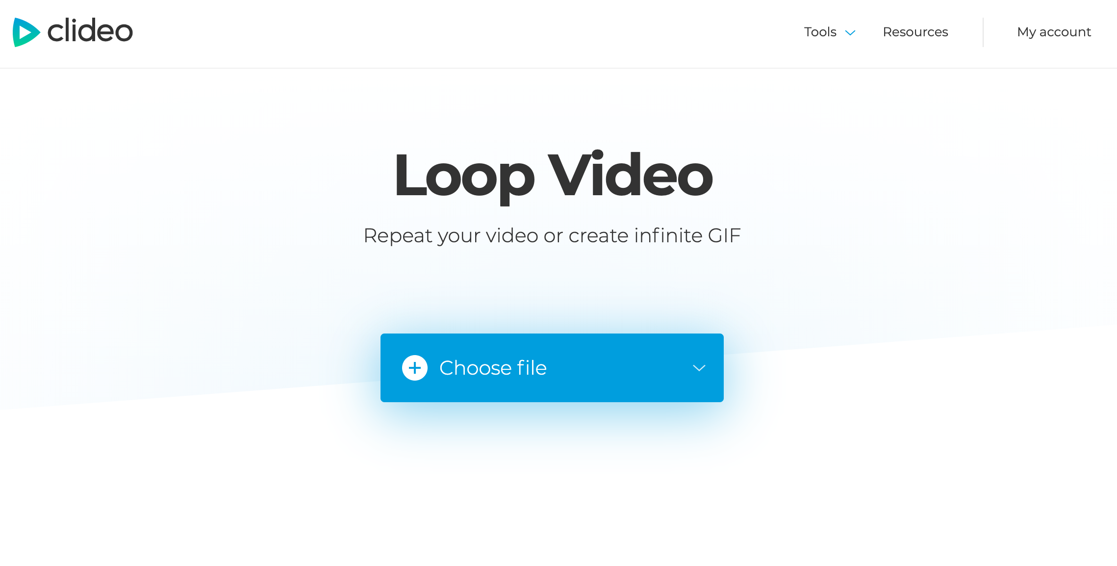 Add a video you want to loop for Instagram