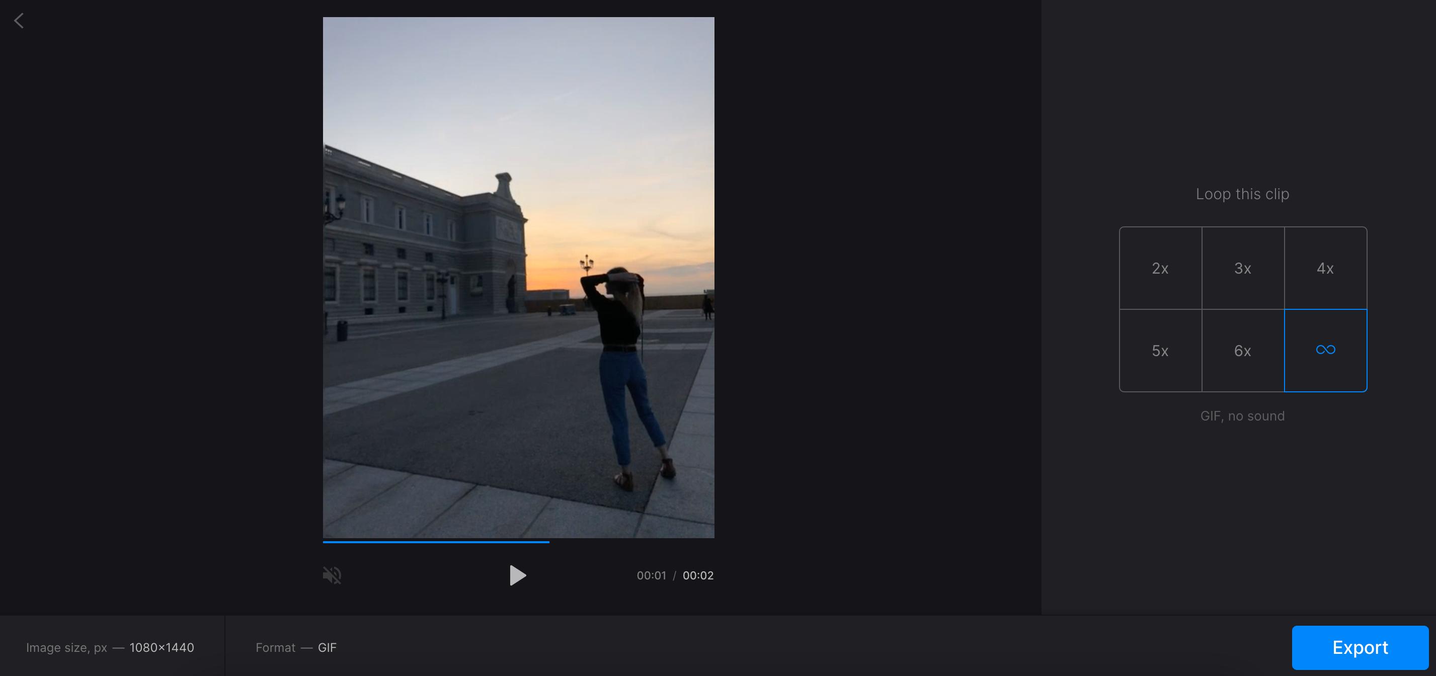 Create infinite GIF from YouTube video