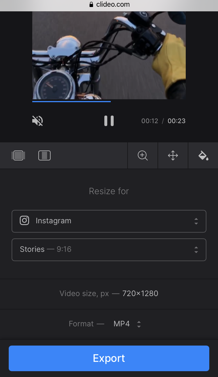 Make reels for Instagram with Clideo