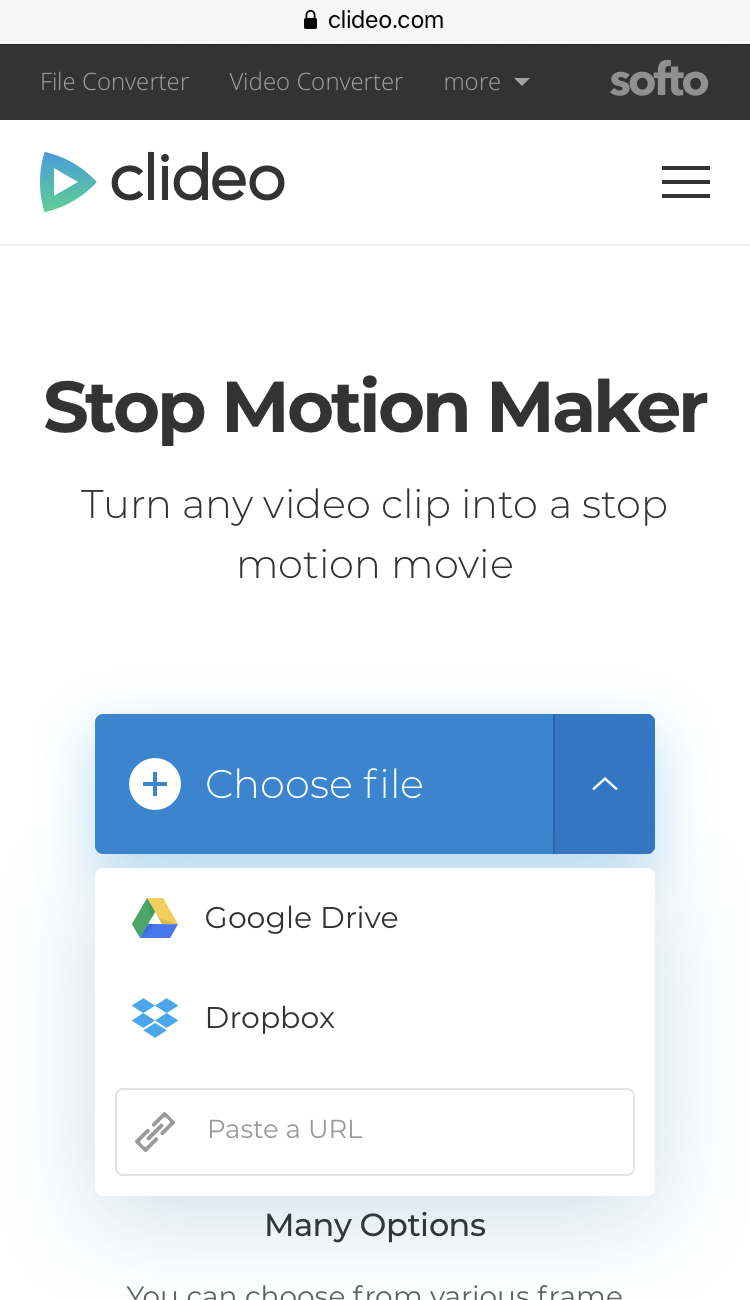 Upload a video to make stop motion on iPhone