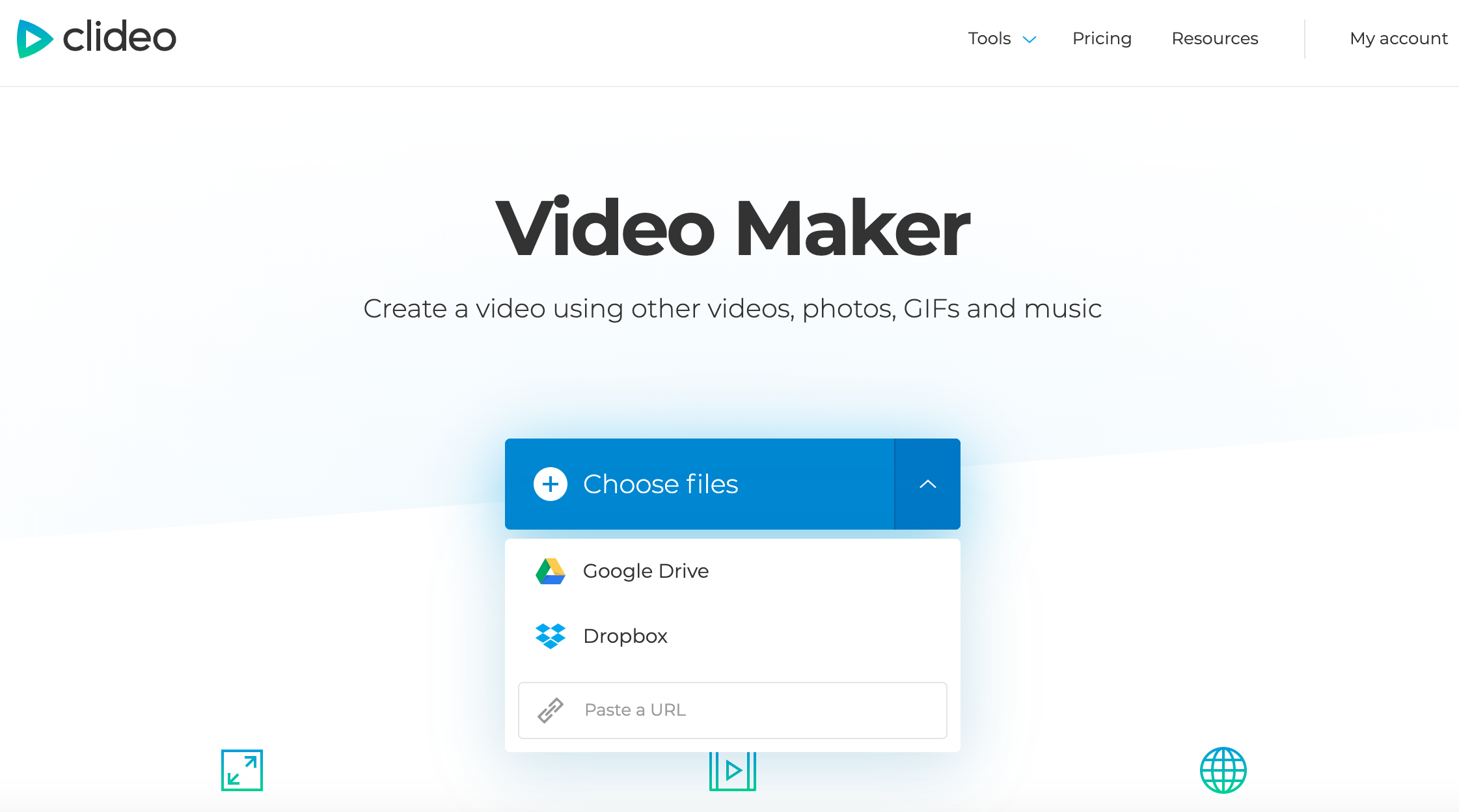 Choose files to create a Facebook video