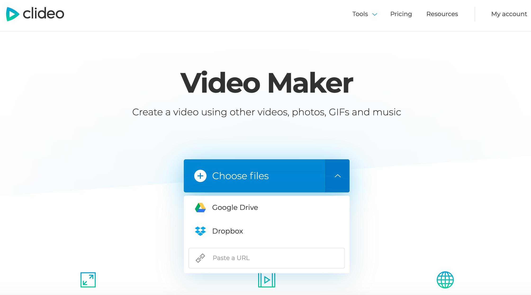 Choose files to create a Facebook video
