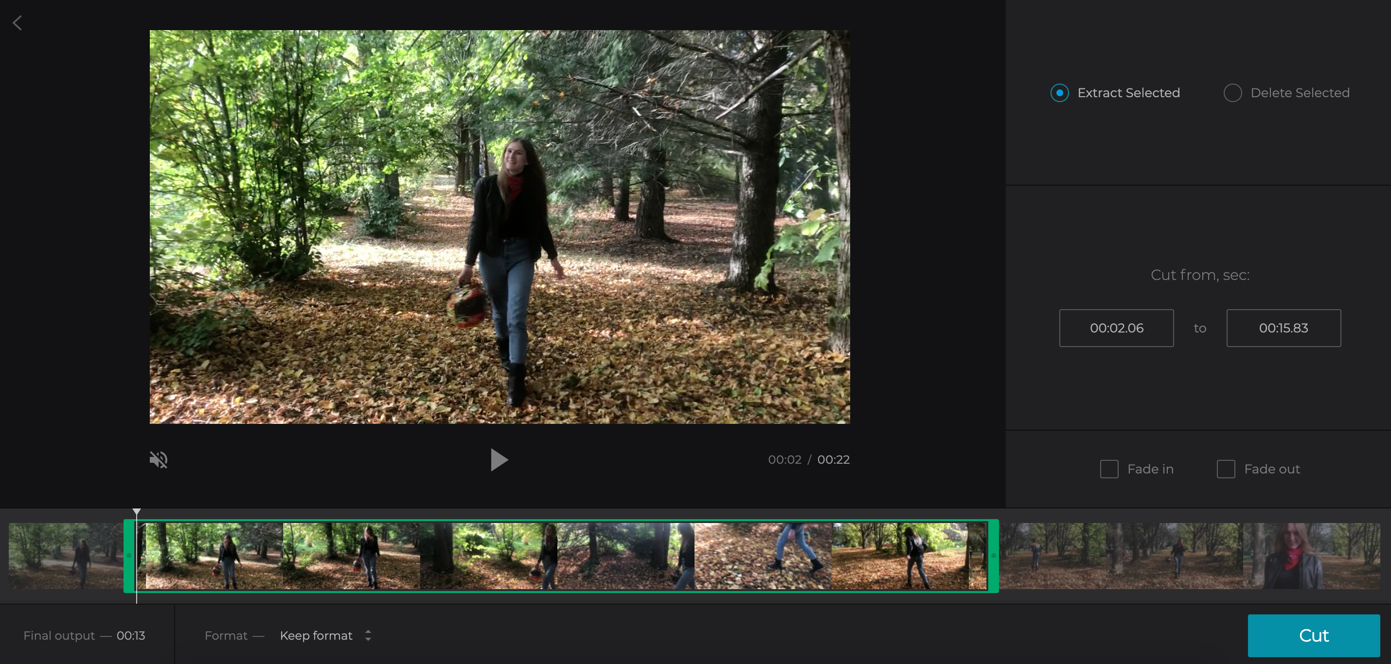 Make video shorter for Instagram