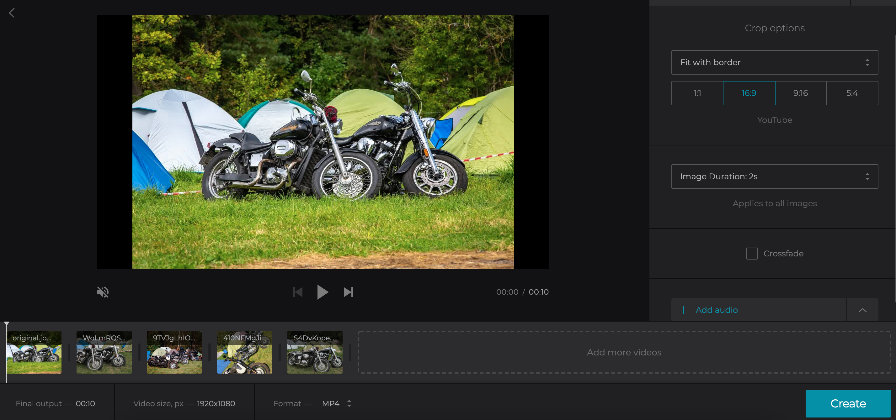 Make video with pictures and other files