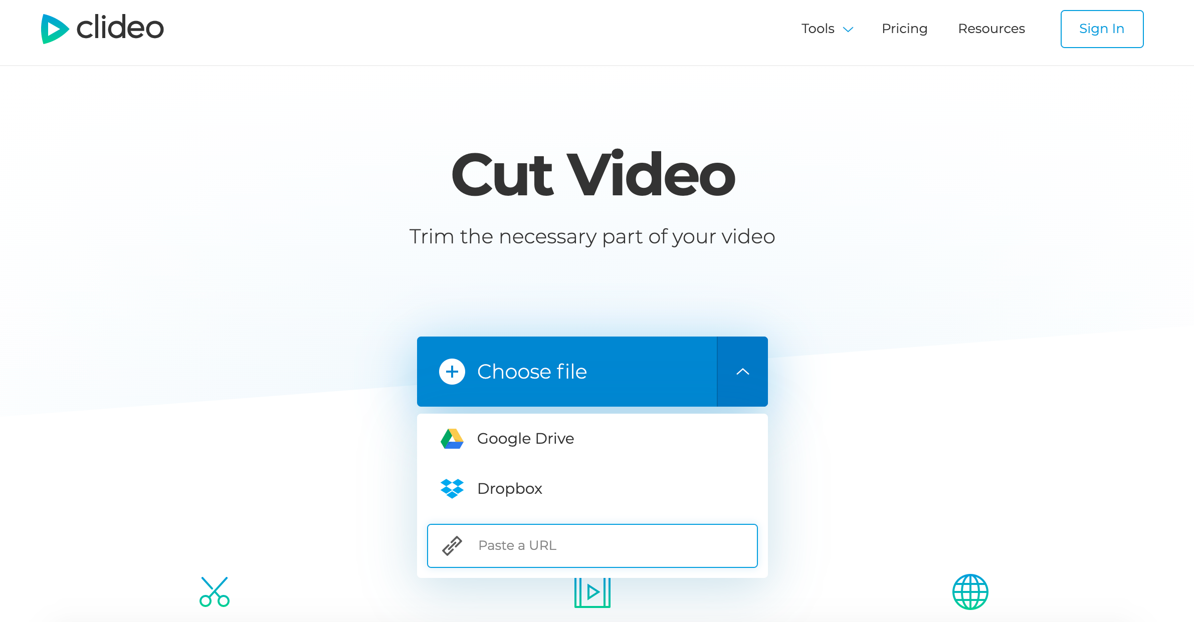 Paste the link to Twitter video to download
