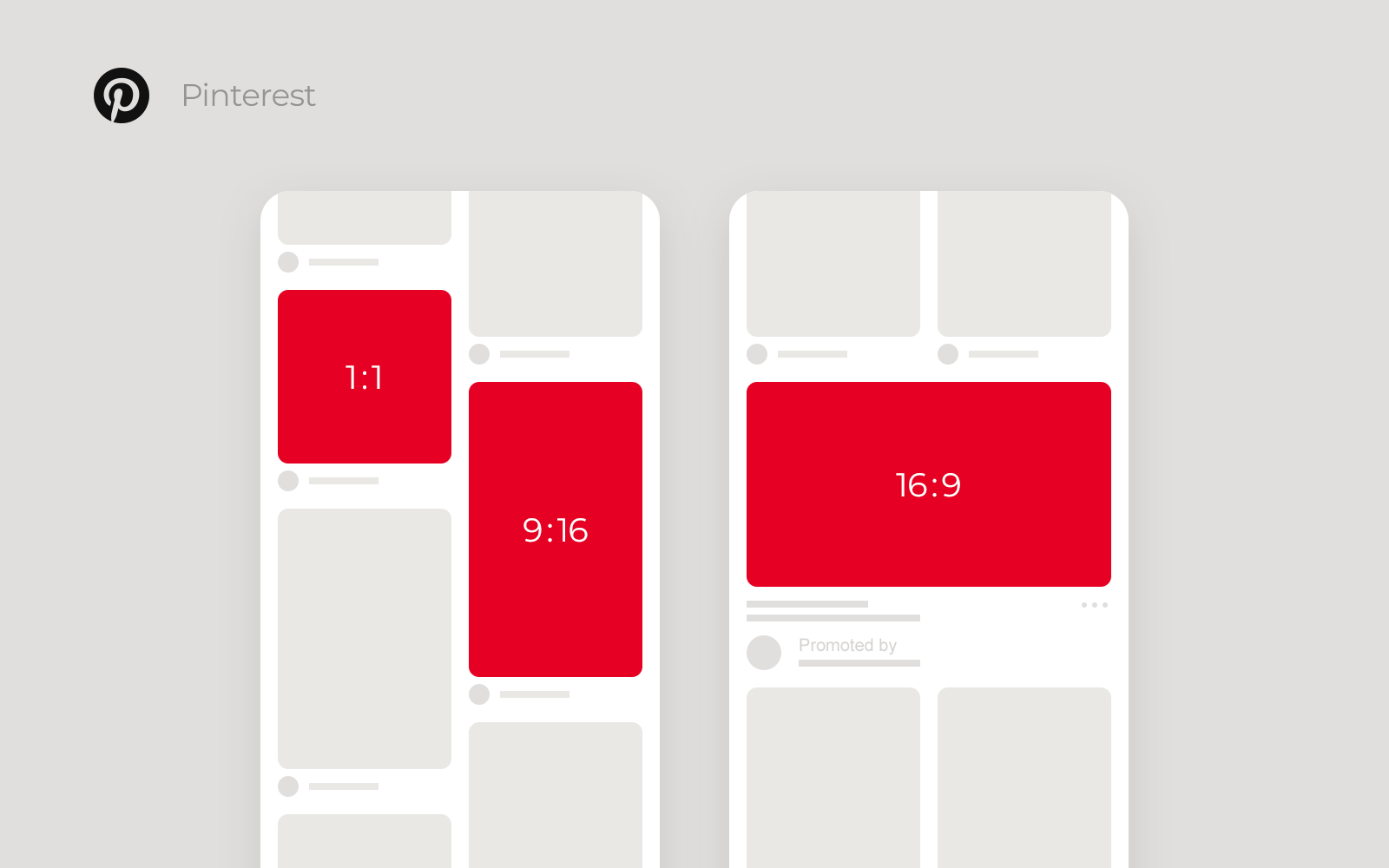 Pinterest Square and Vertical video, their aspect ratio