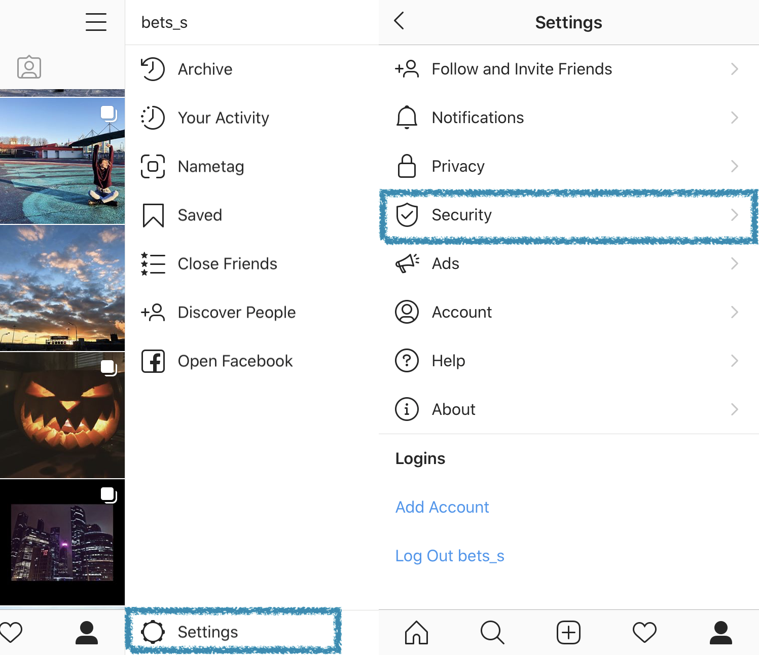 Request all your published Instagram posts