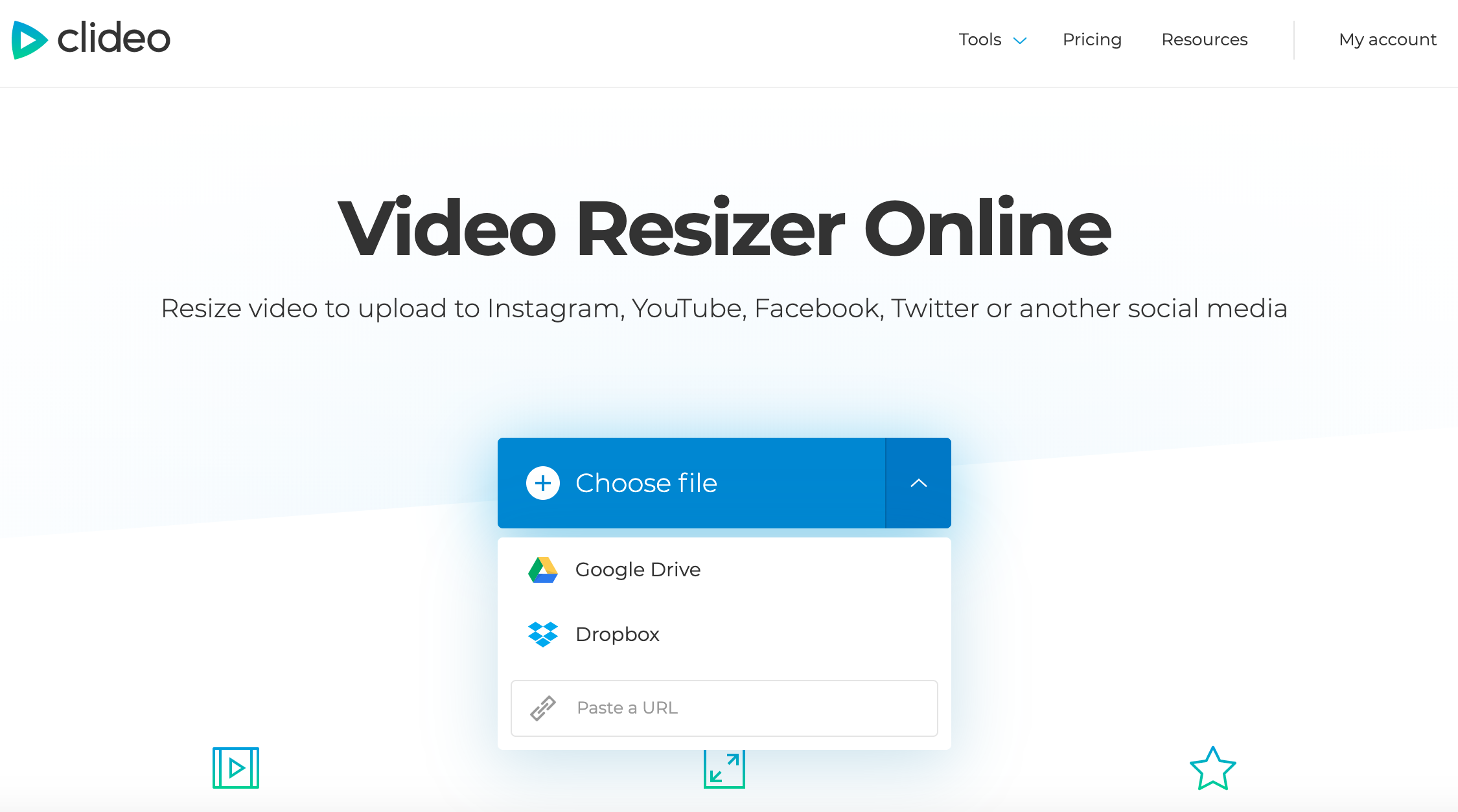Upload a video you want to resize for Twitter