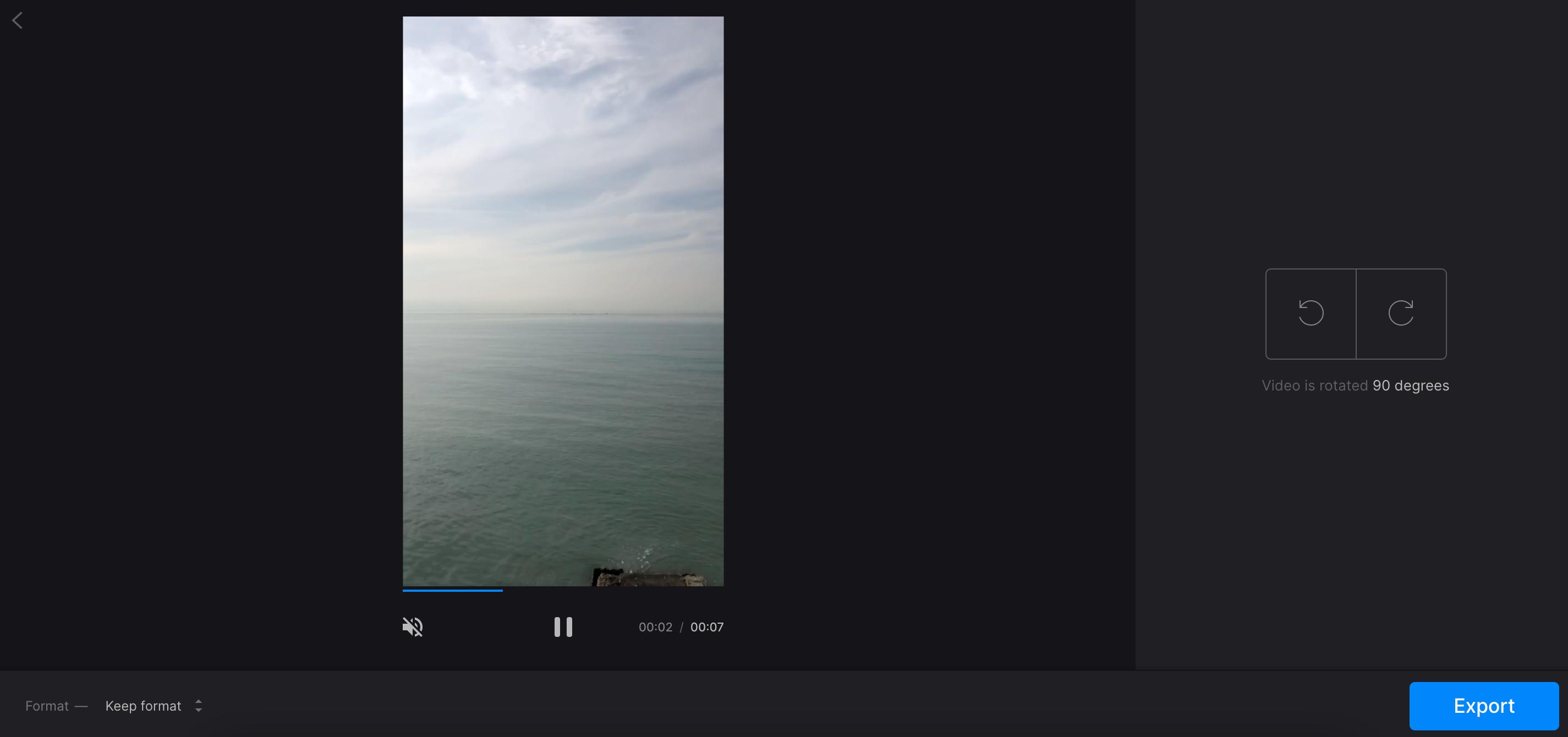Rotate vertical video to make it horizontal