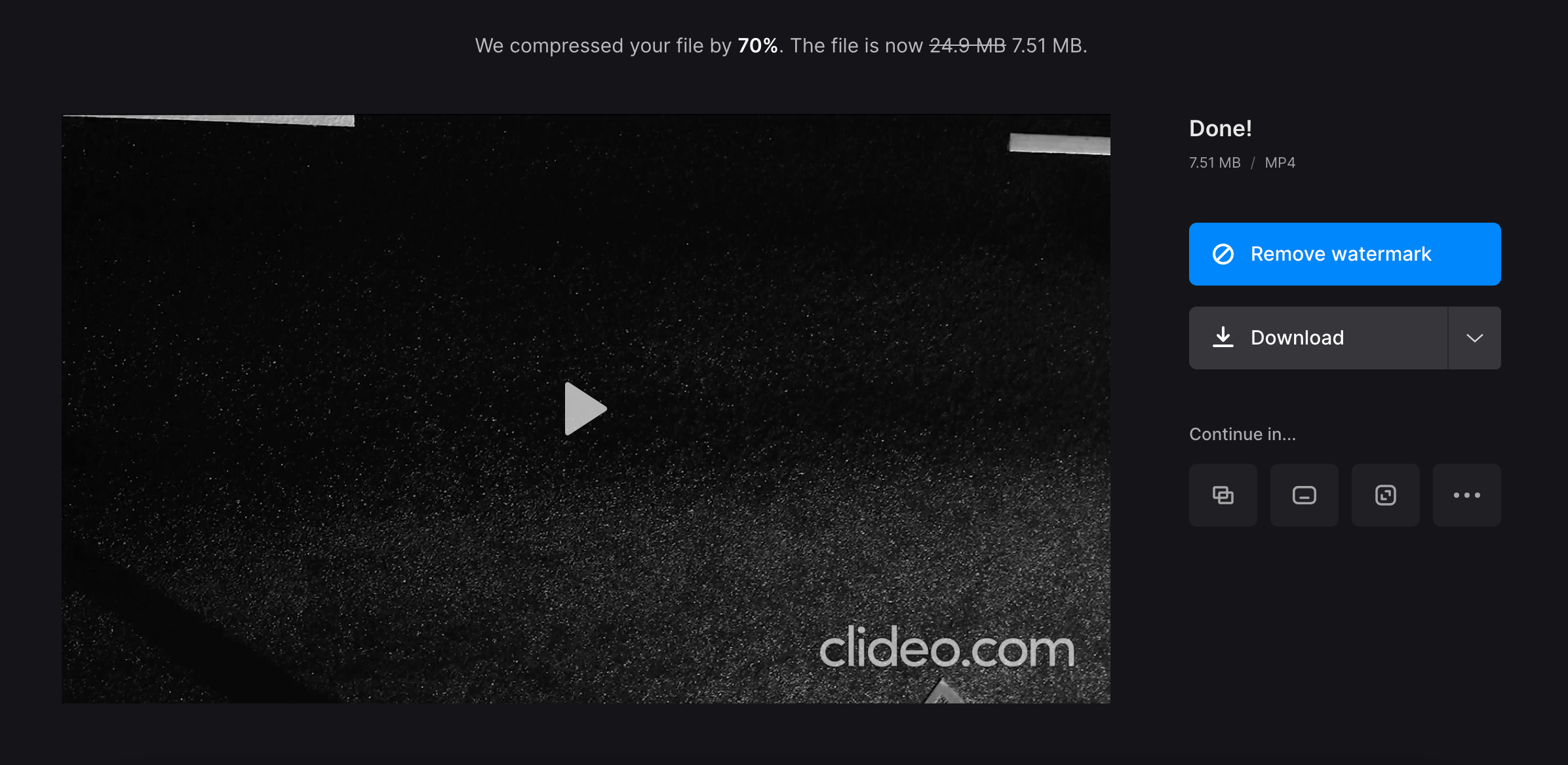 Download Android video compressed for email