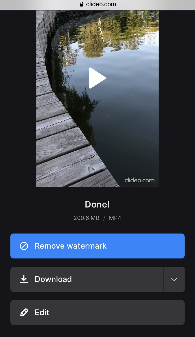 Download created slideshow on iPhone