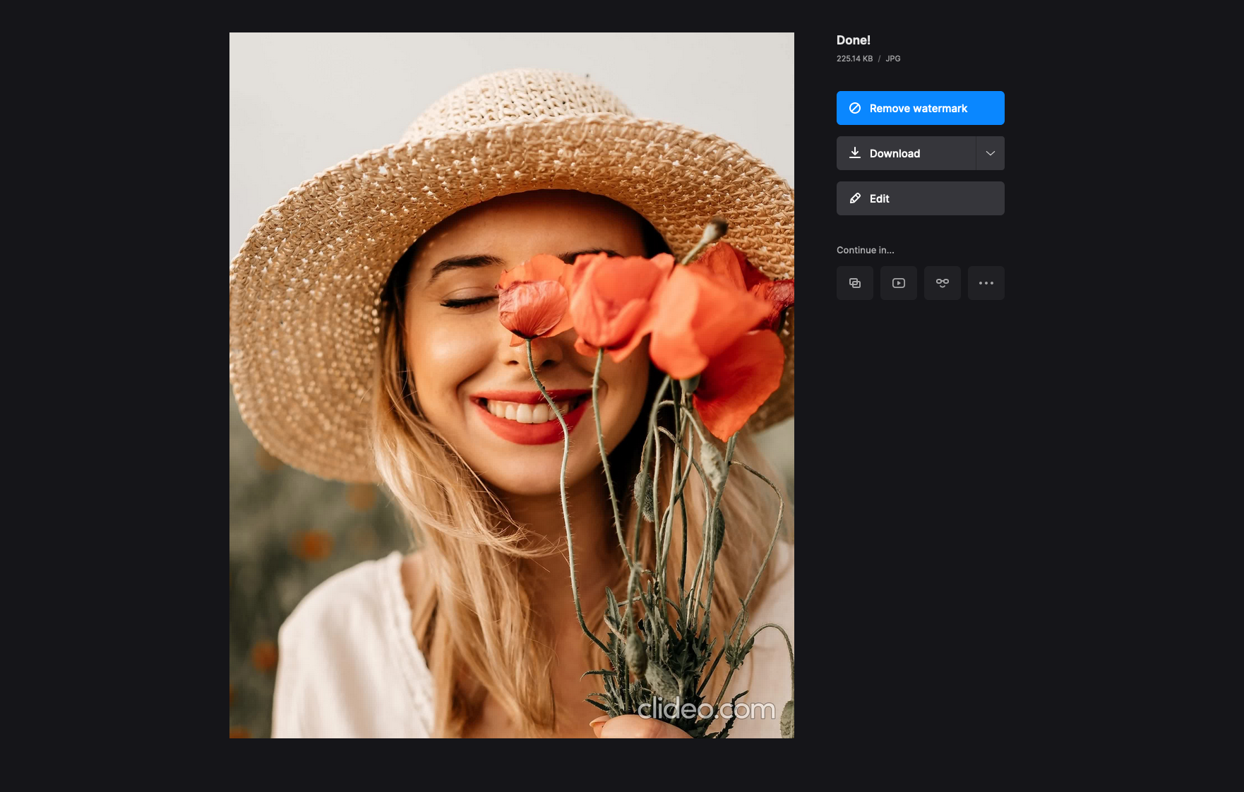 Download cropped screenshot on Mac