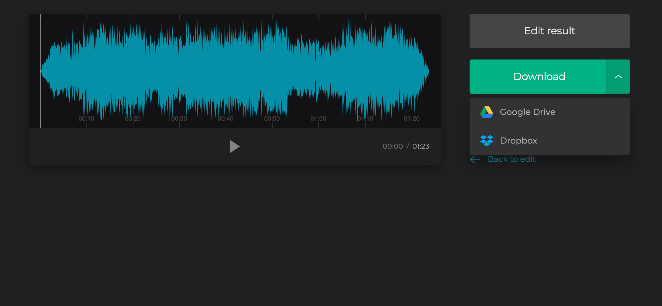Download audio extracted from MP4