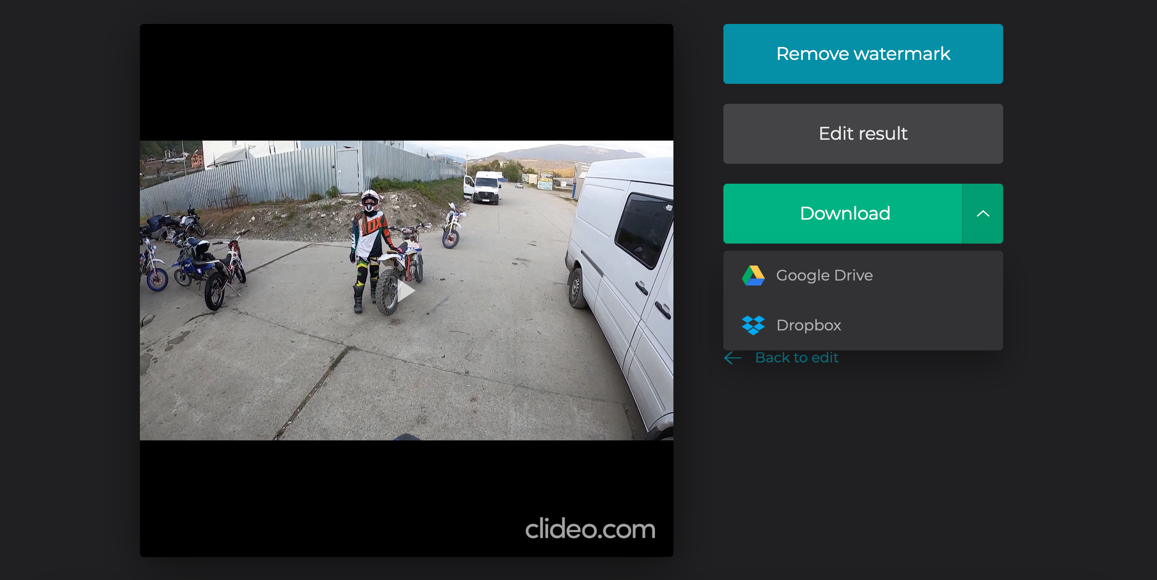 Download merged video on Windows