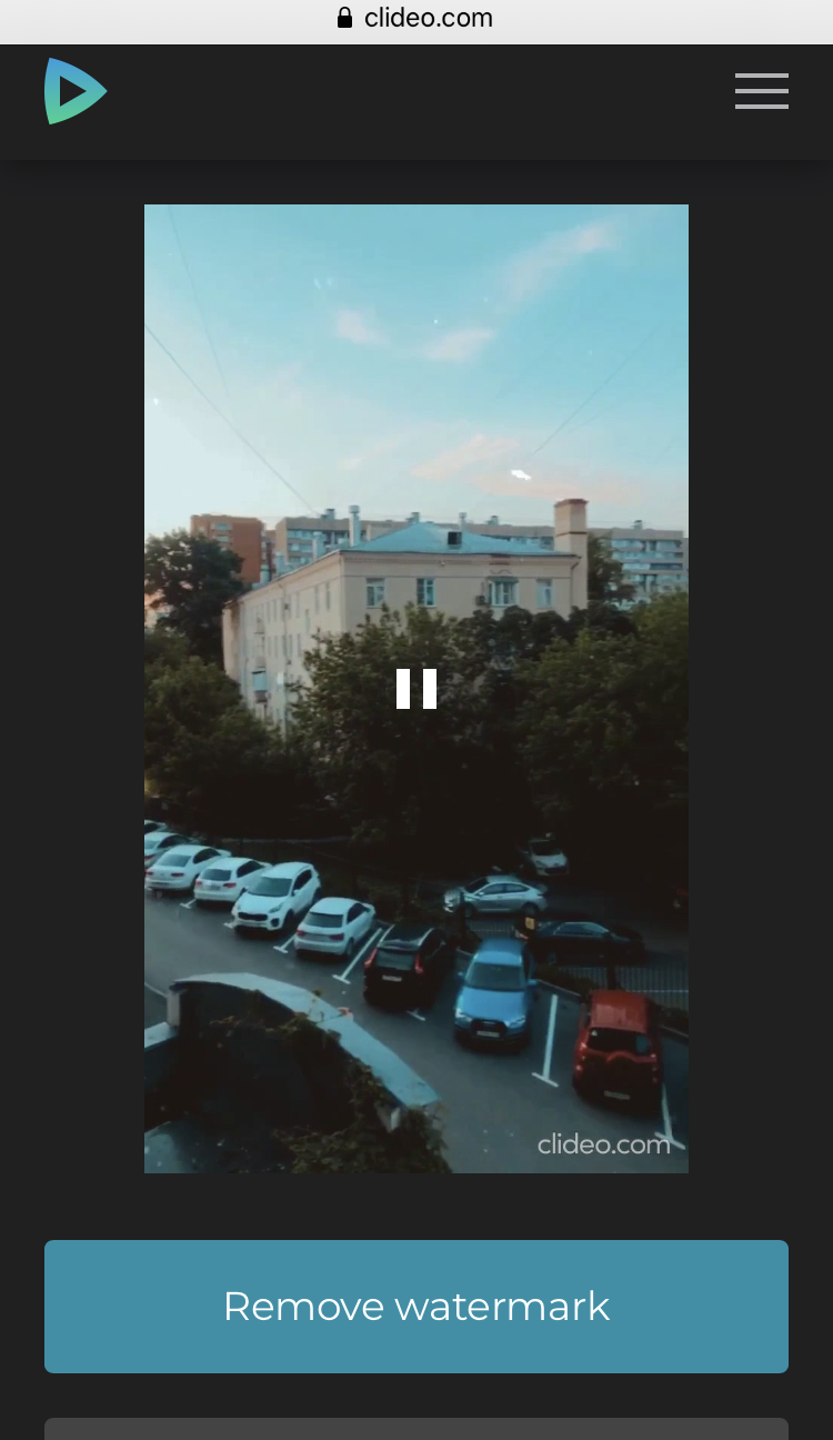 Download the video with added audio to iPhone