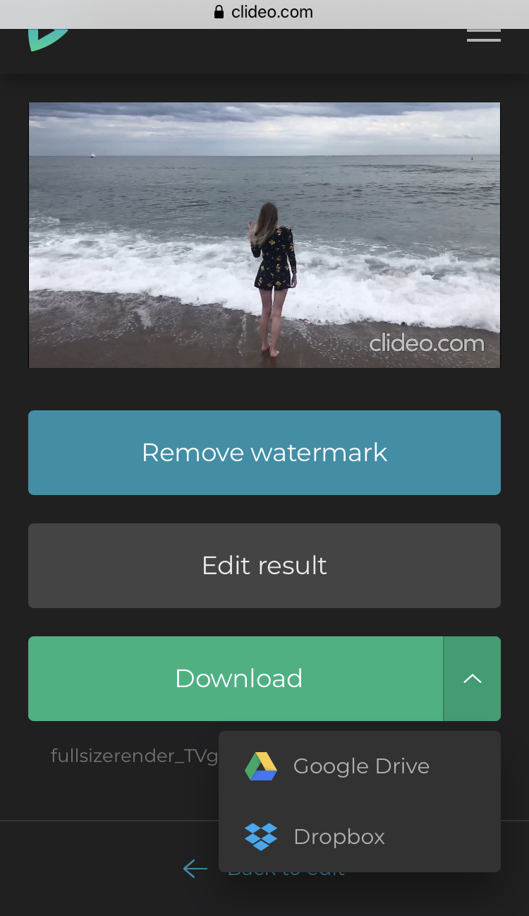 Download the created video from the Android Video Maker