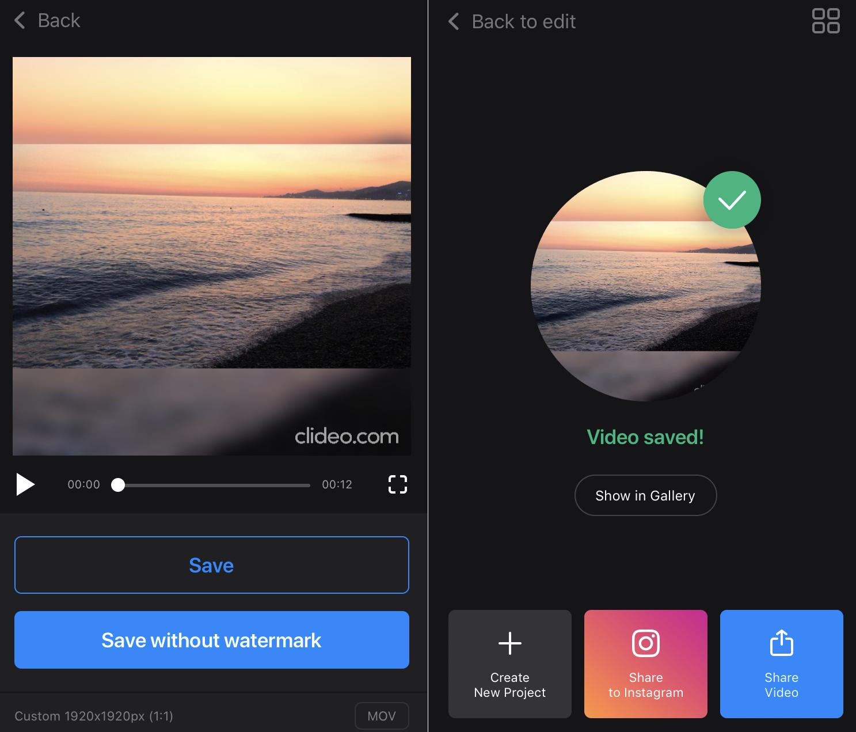 Download video from Crop App