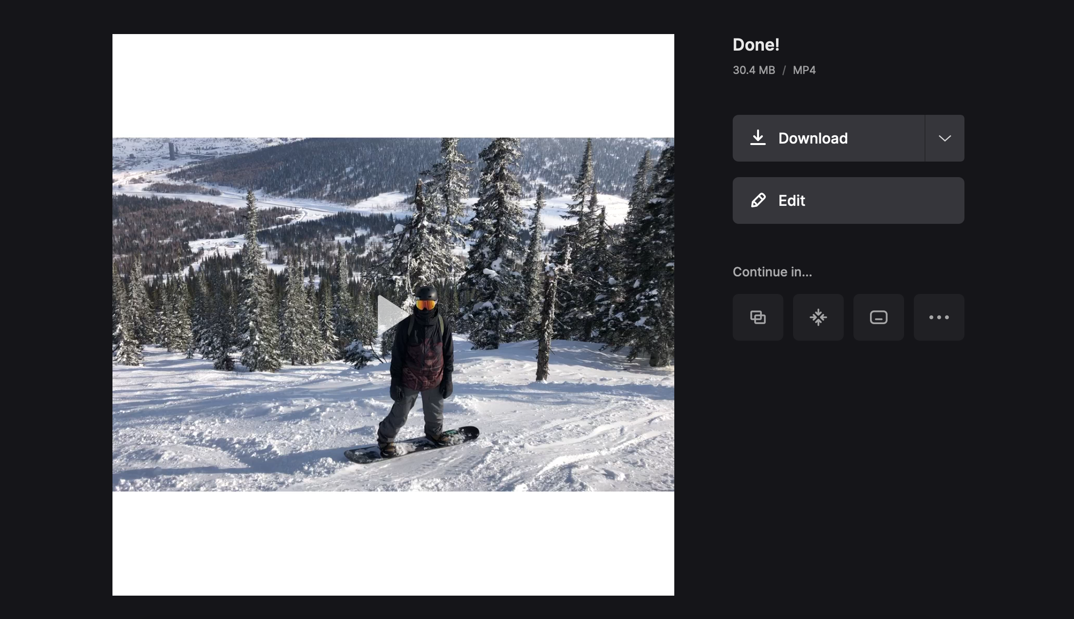 Download video with changed 2K resolution