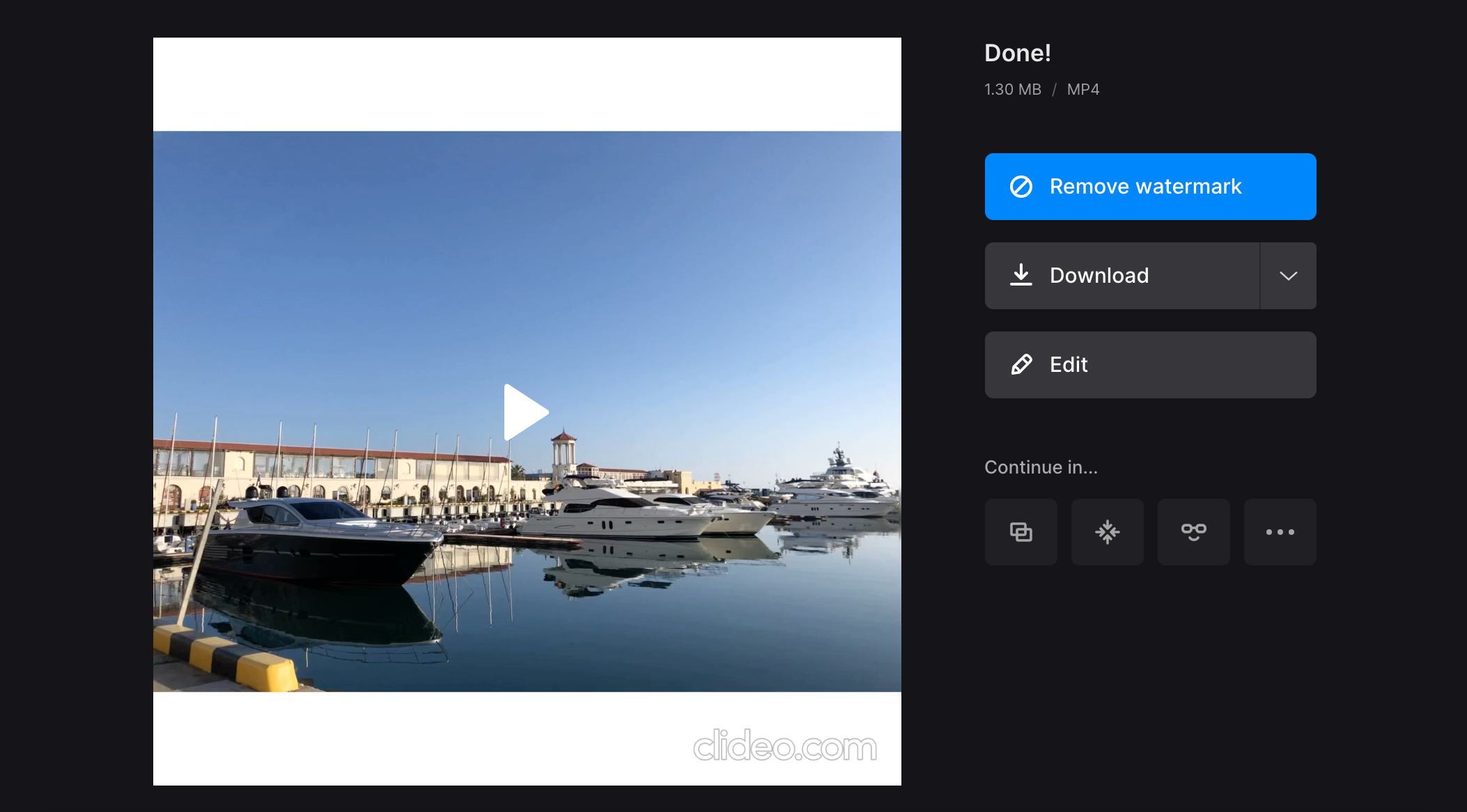 Download video with changed native or supported resolution