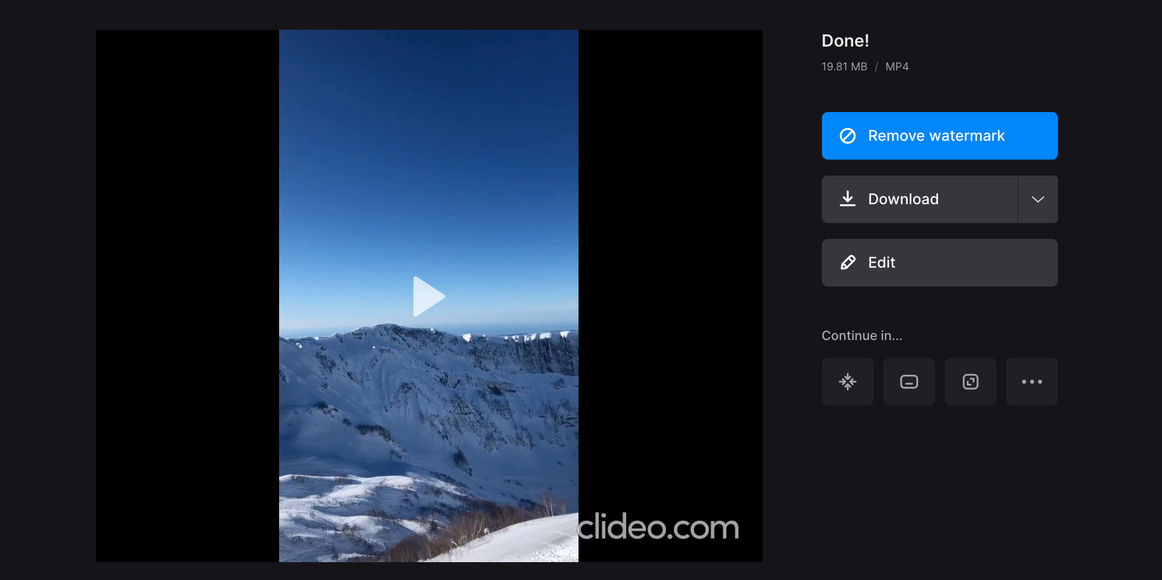 Download video with jump cut