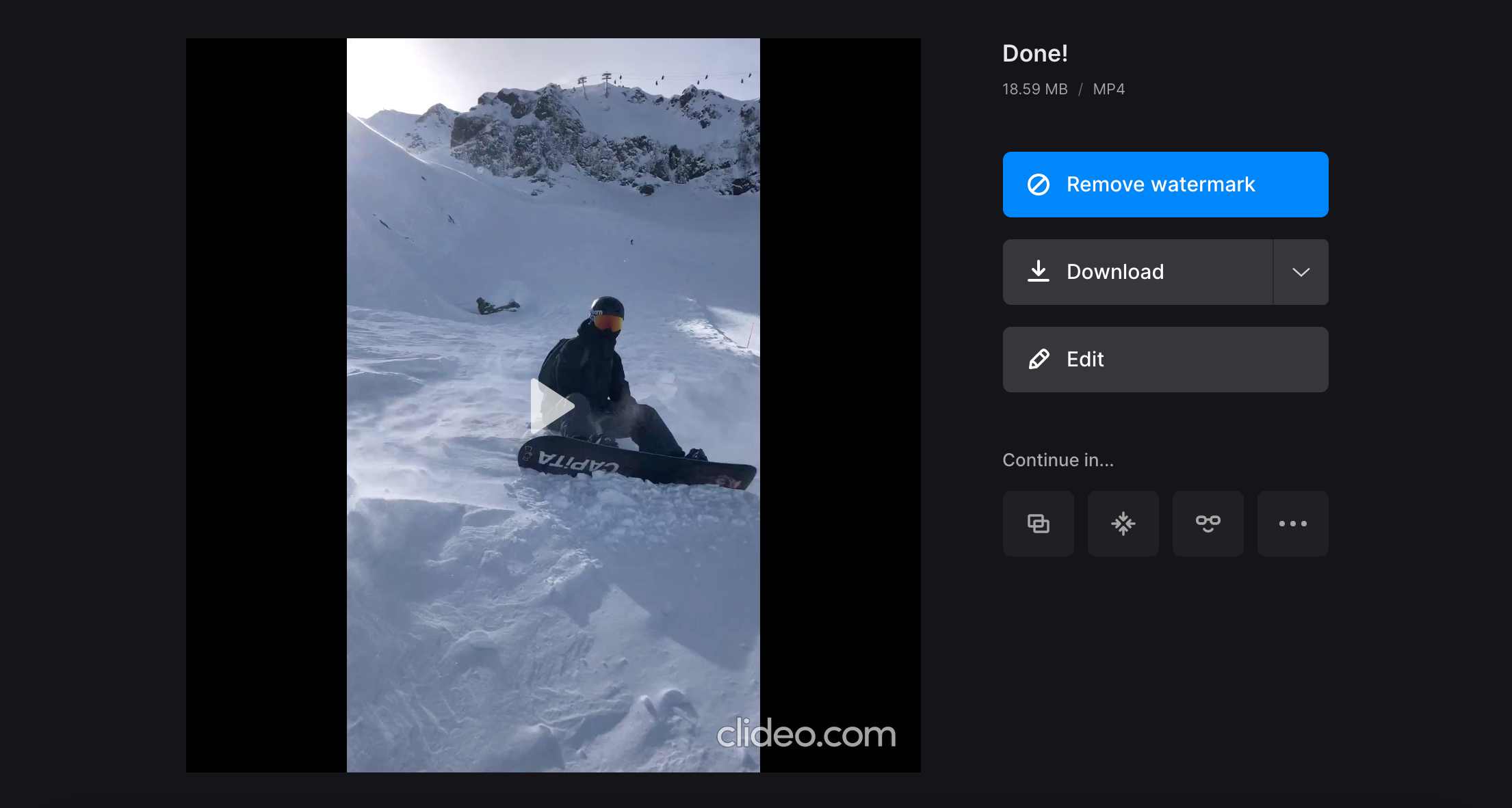 Download video with changed native resolution