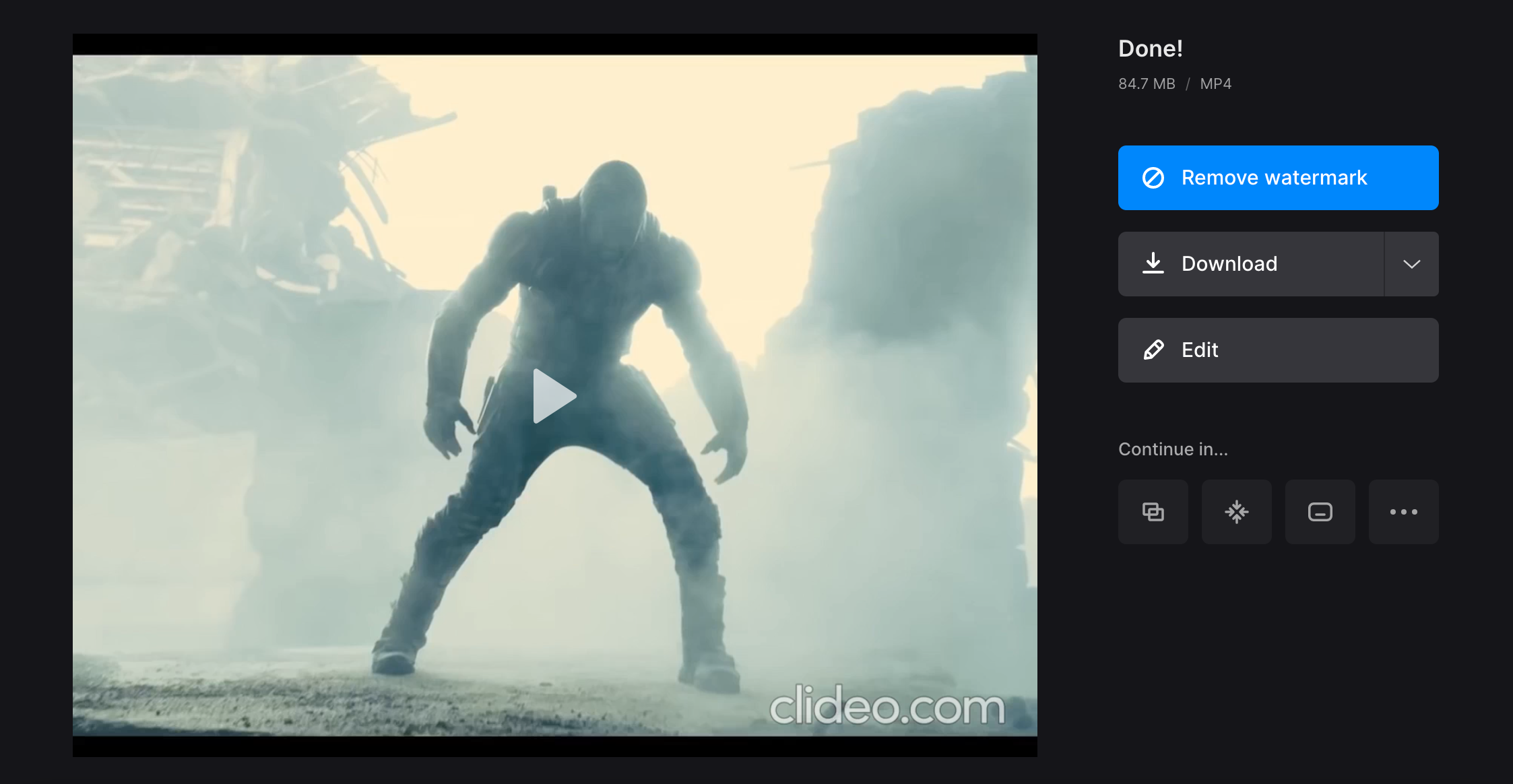 Download YouTube video with changed aspect ratio